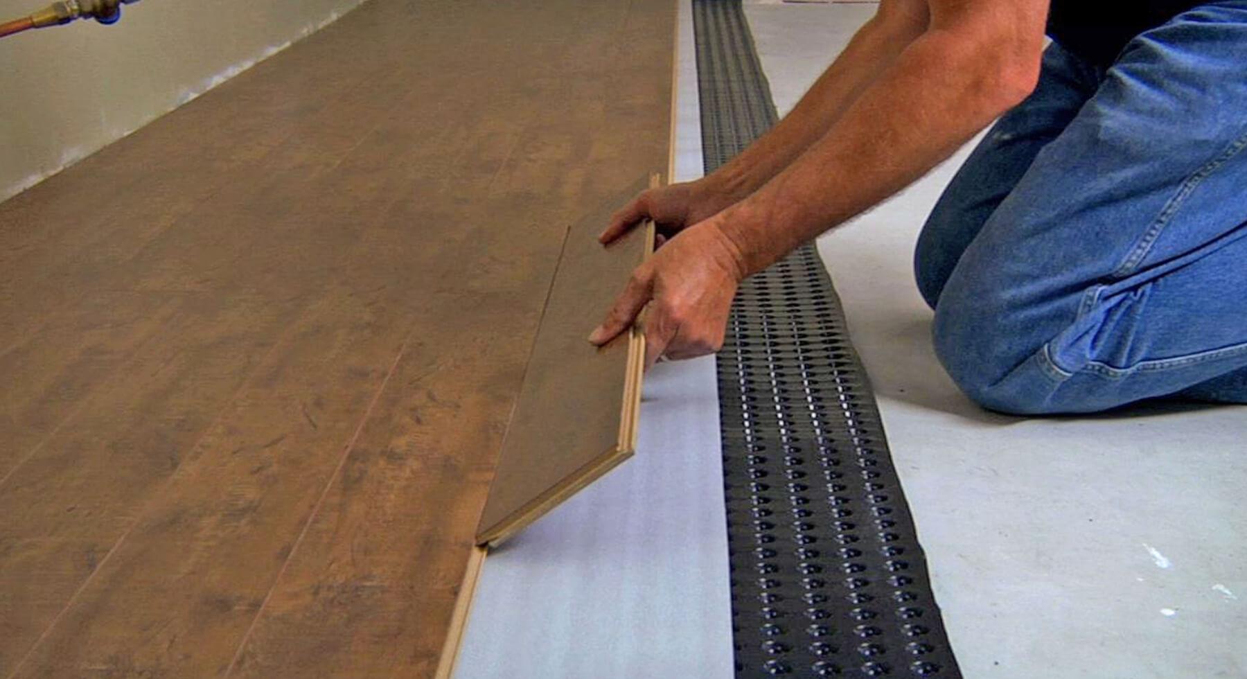 Basement Floor Underlayment Plastic