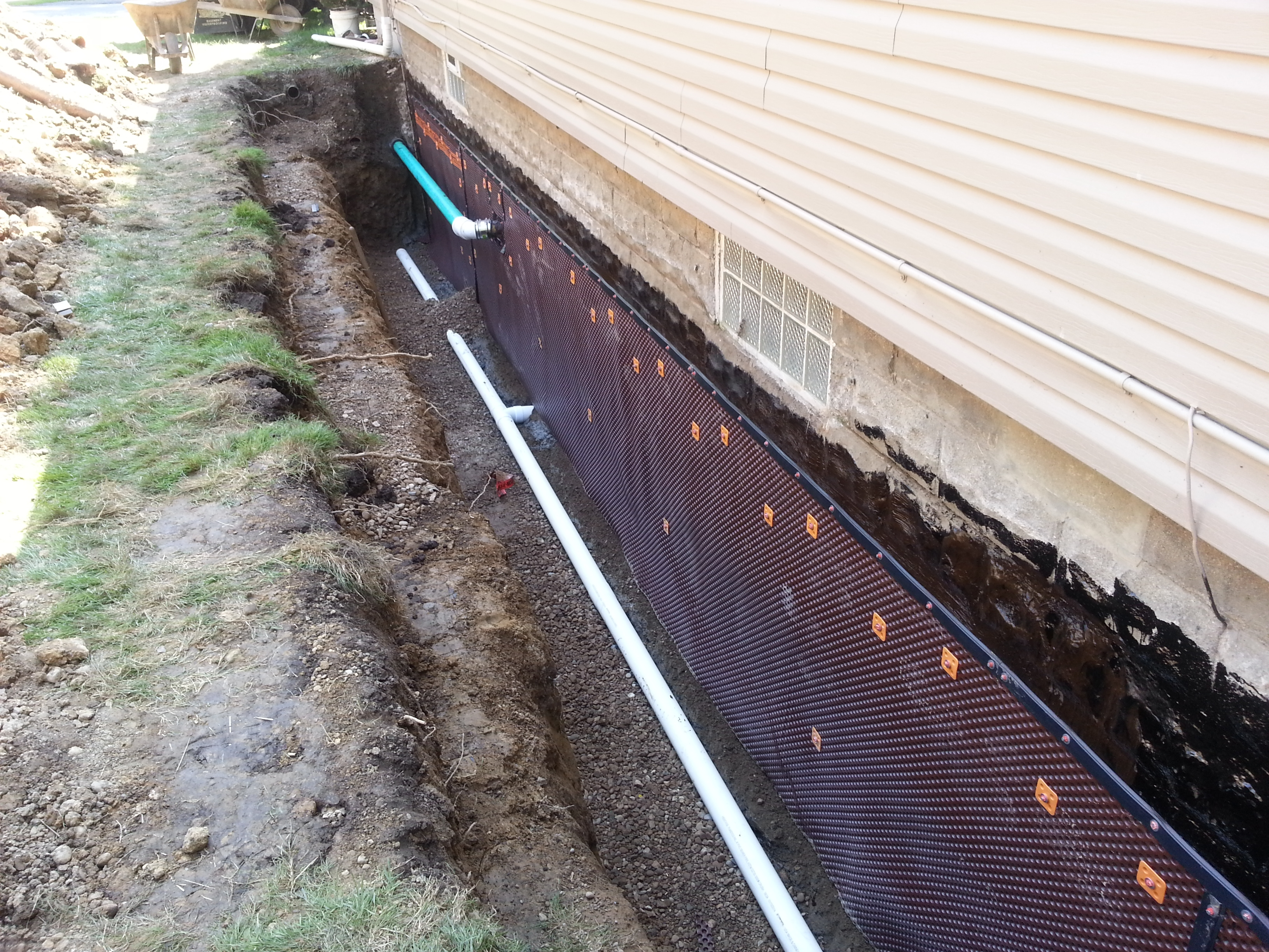 Basement Foundation Waterproof Membrane