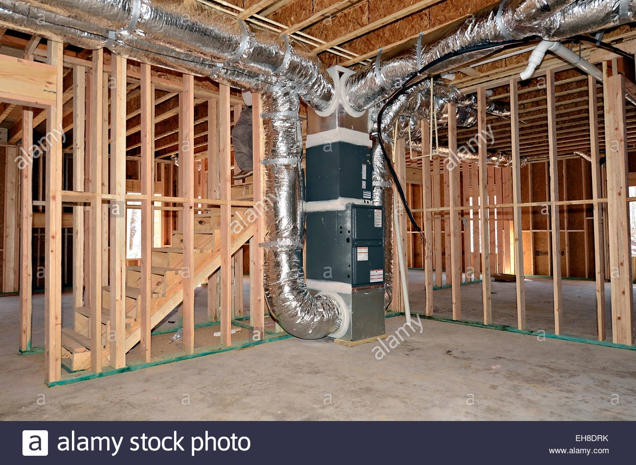 Basement Heating Duct Work