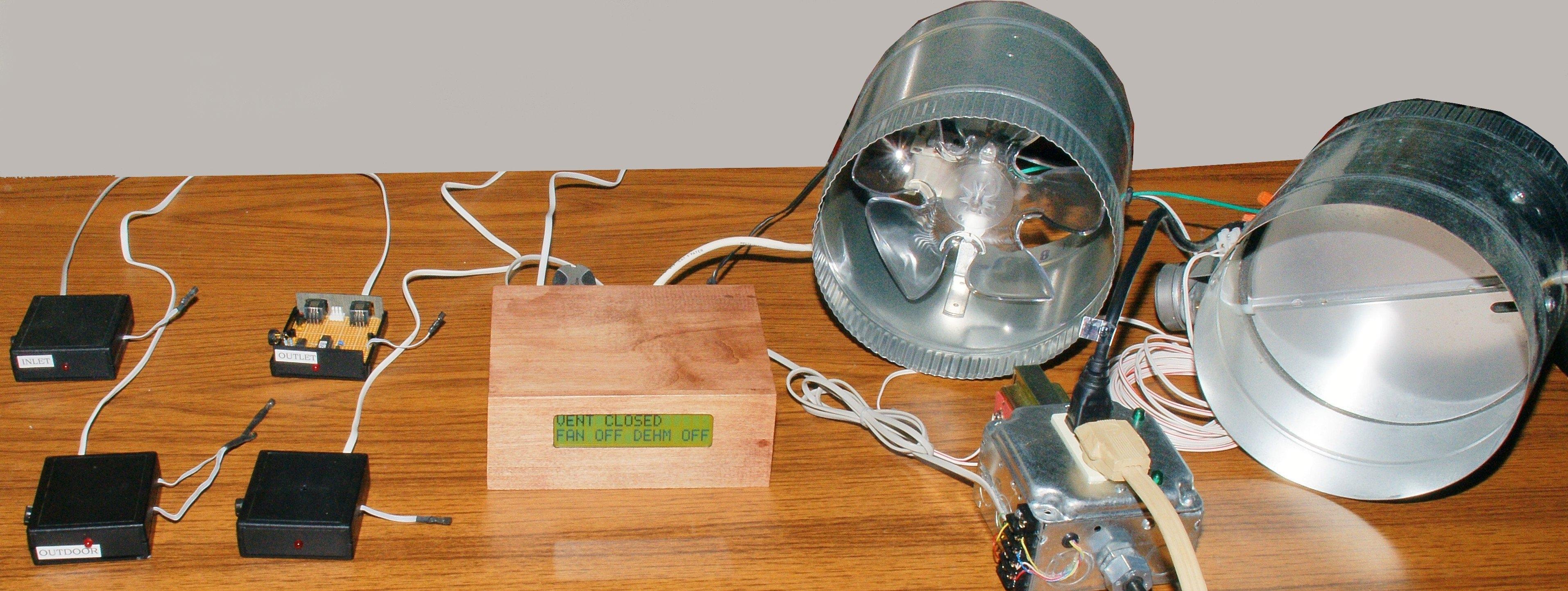 Basement Humidity Controlled Fan
