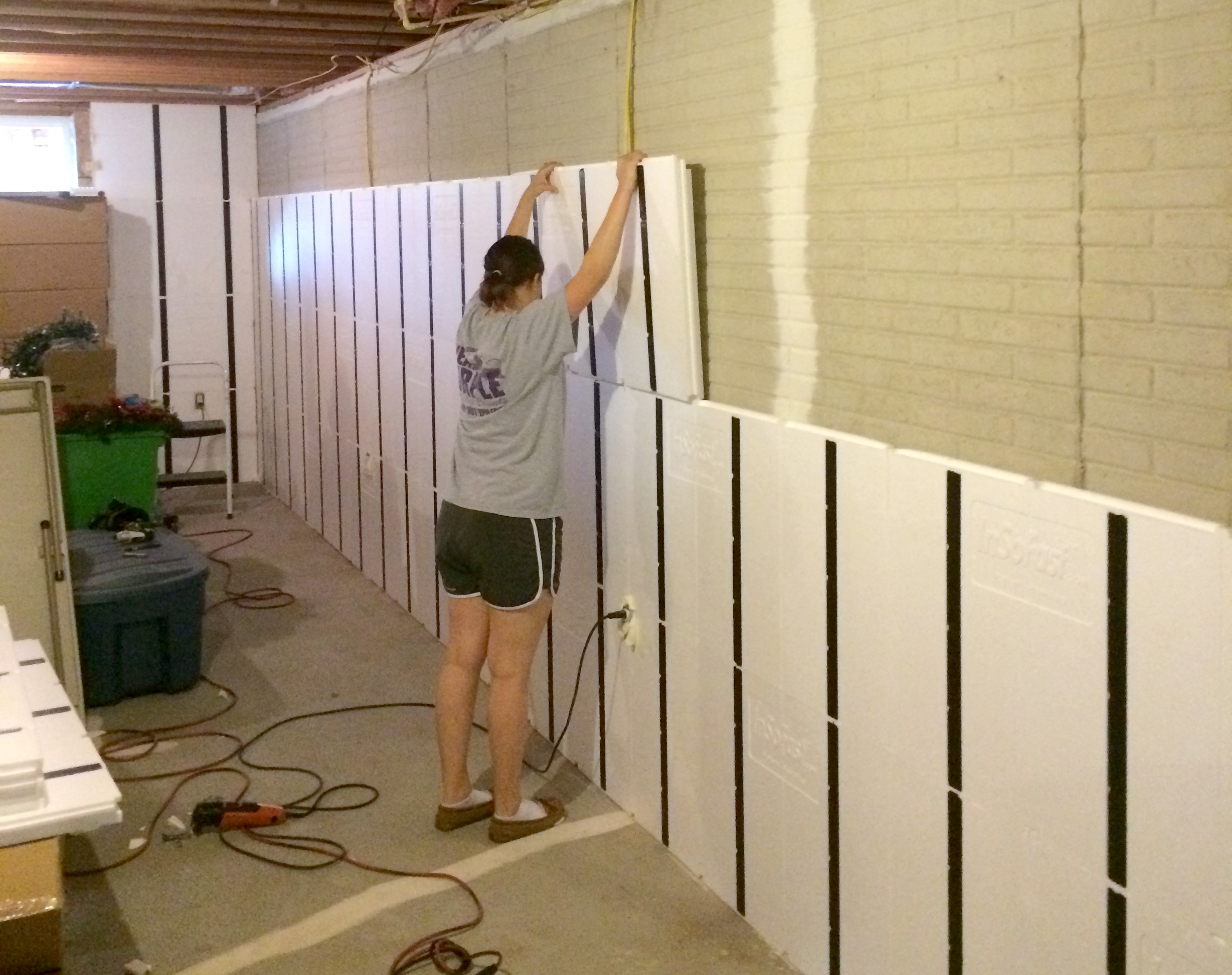 Basement Insulation Panels With Studs