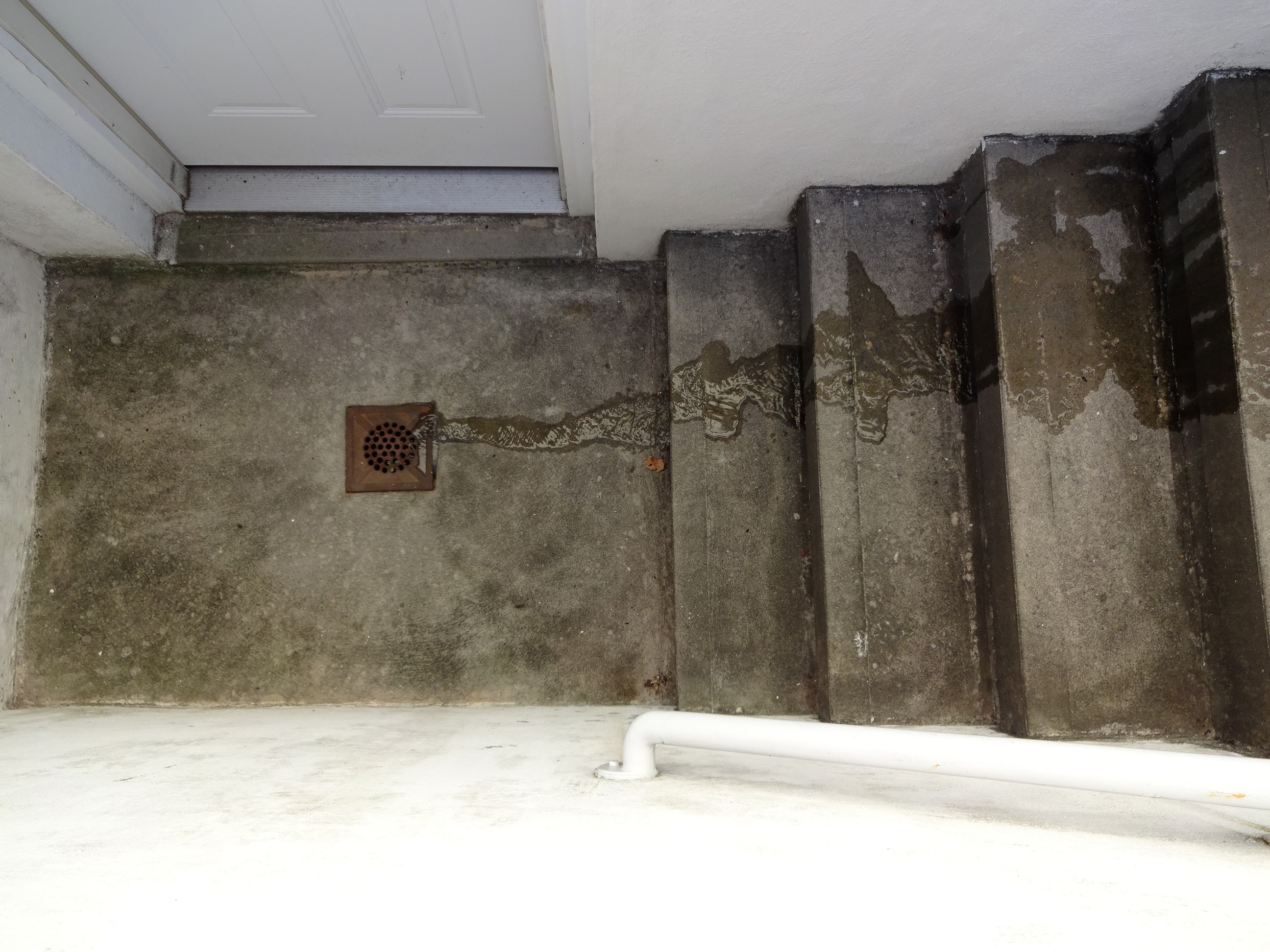Basement Stairwell Drain Clogged