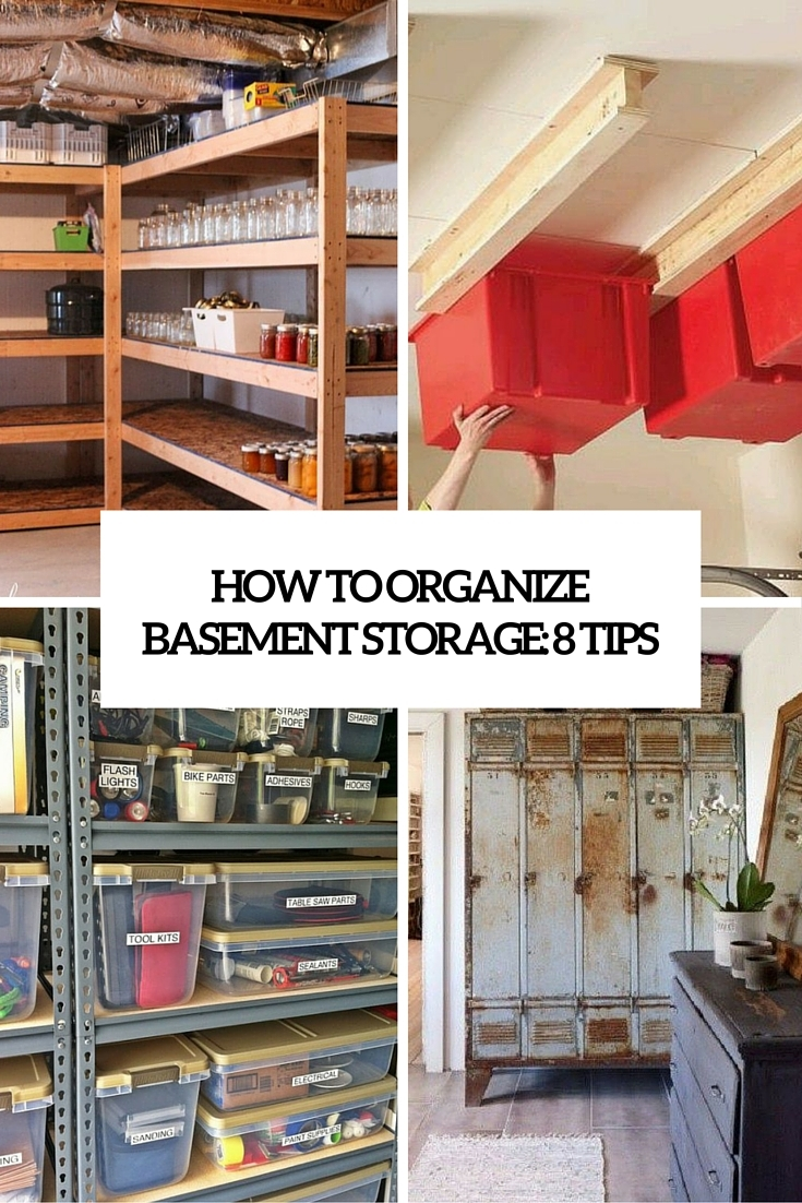 Basement Storage Room Shelving Ideas