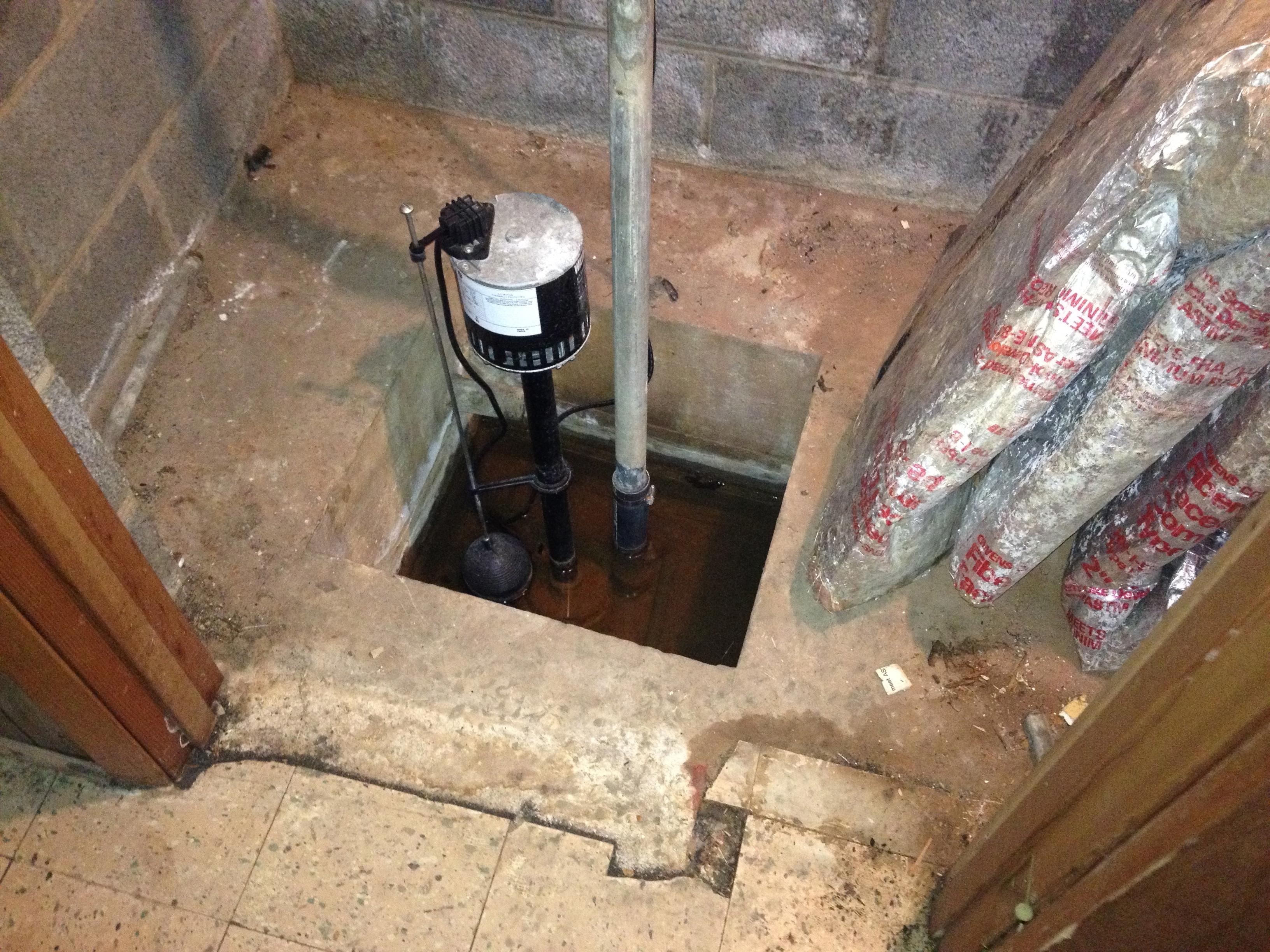 Basement Sump Pit No Pump