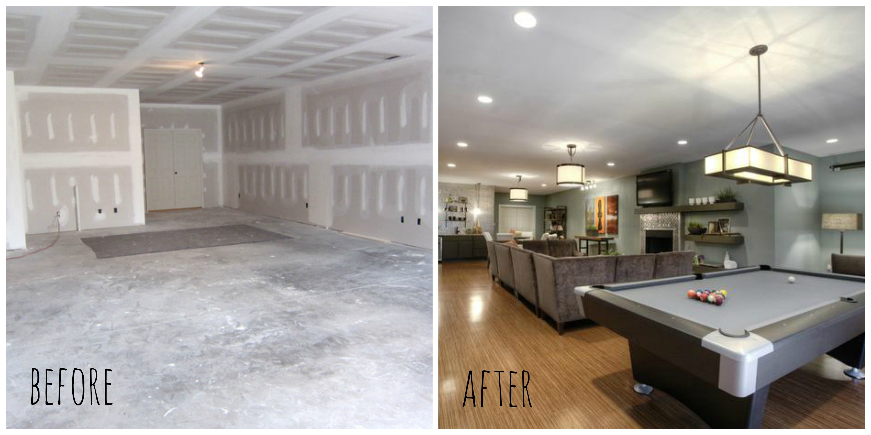 Basement Transformations Before And After