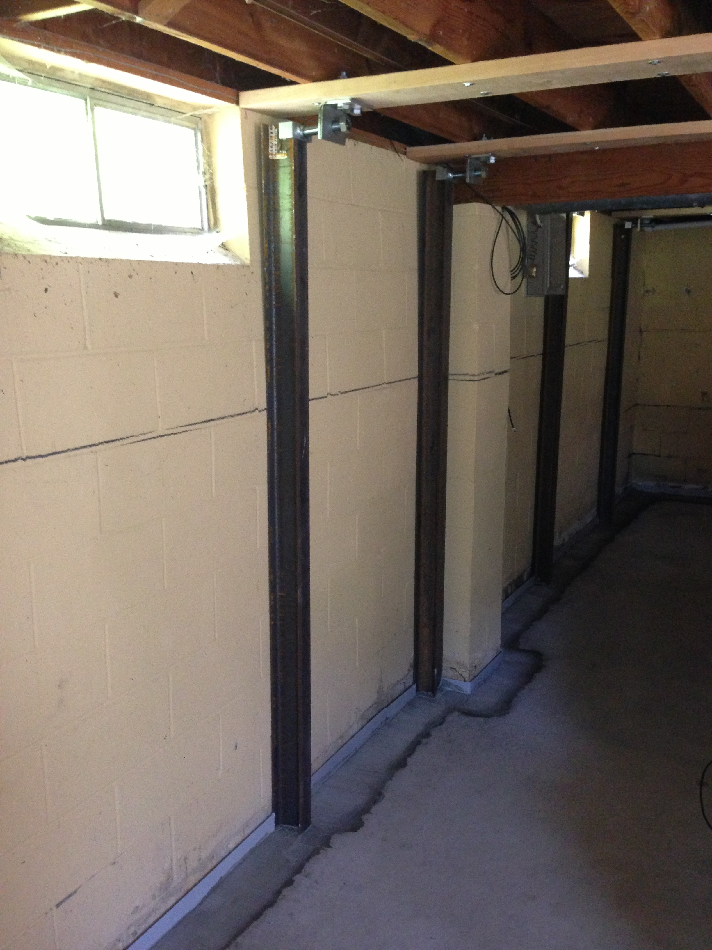 Basement Wall Bracing System