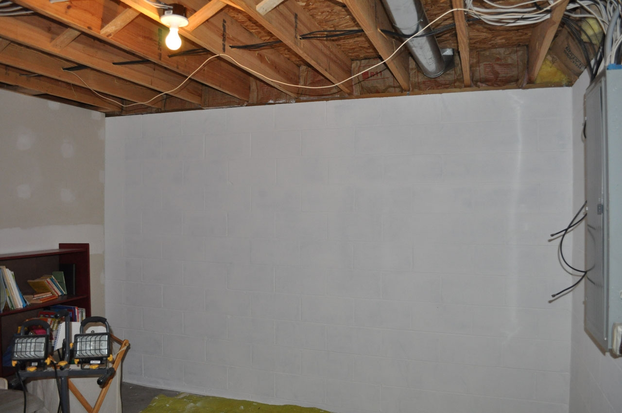 Basement Wall Covering Concrete