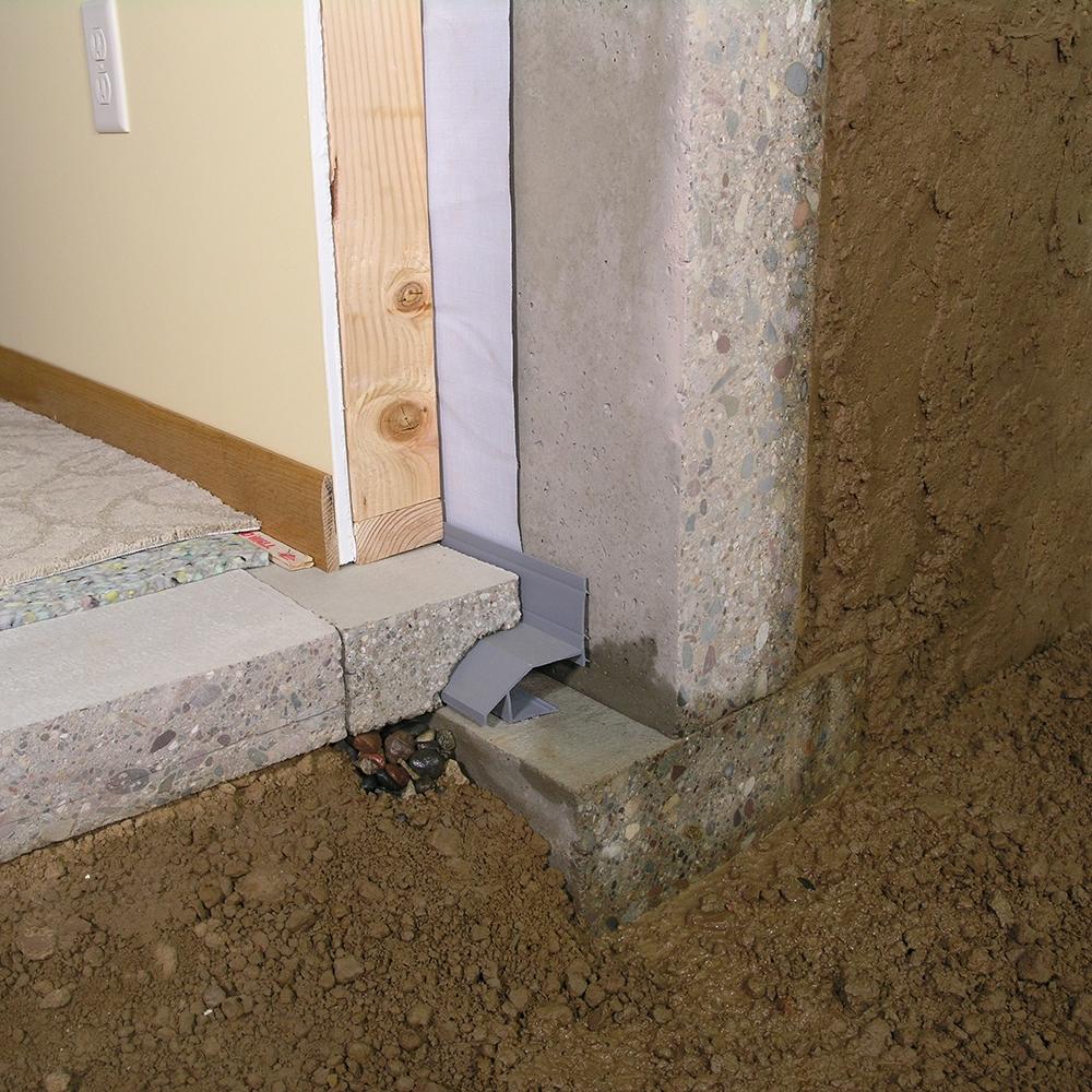 Basement Waterproofing Drain Channel