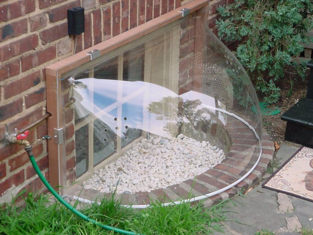 Basement Window Coverings Outside