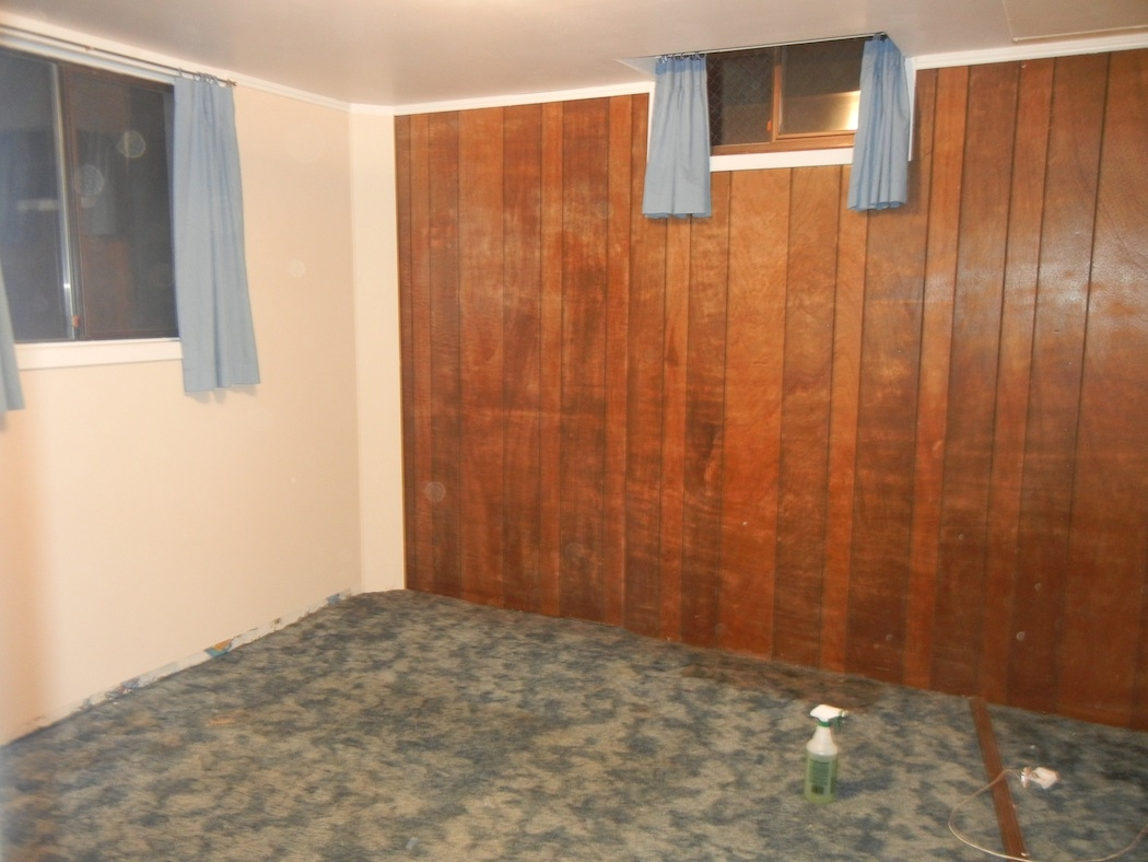 Basement Wood Panel Walls