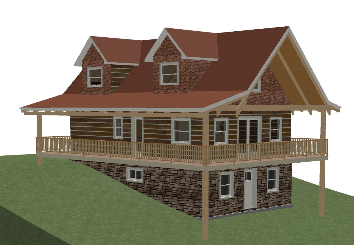 Cabin Floor Plans With Walkout Basement