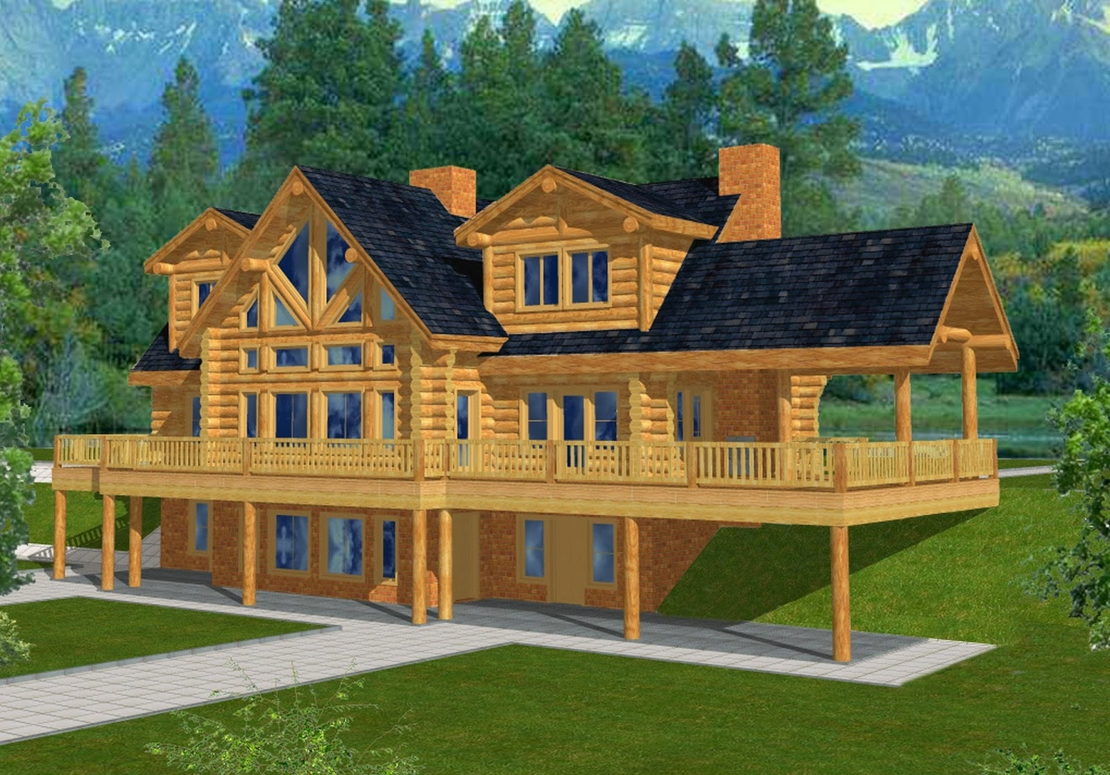 Cabin House Plans With Walkout Basement Cabin House Plans With Walkout Basement basement houses 1600 X 1118