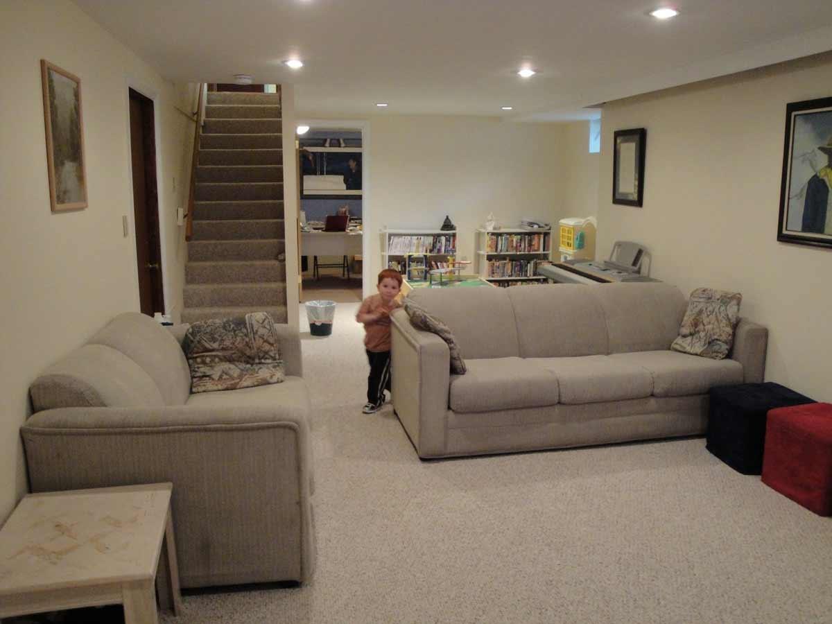 Carpeting On Basement Room