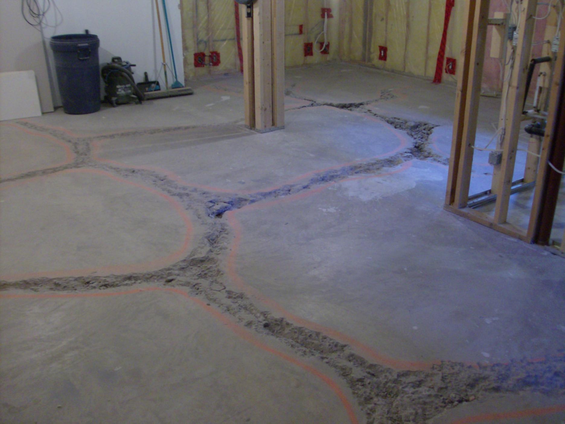 Cement Basement Floor Cracks