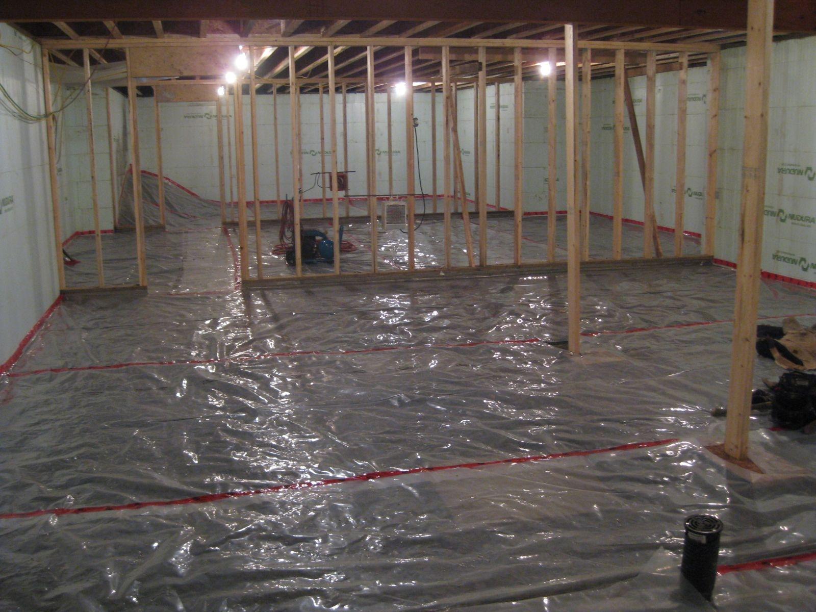 Concrete Basement Floor Moisture Barrier