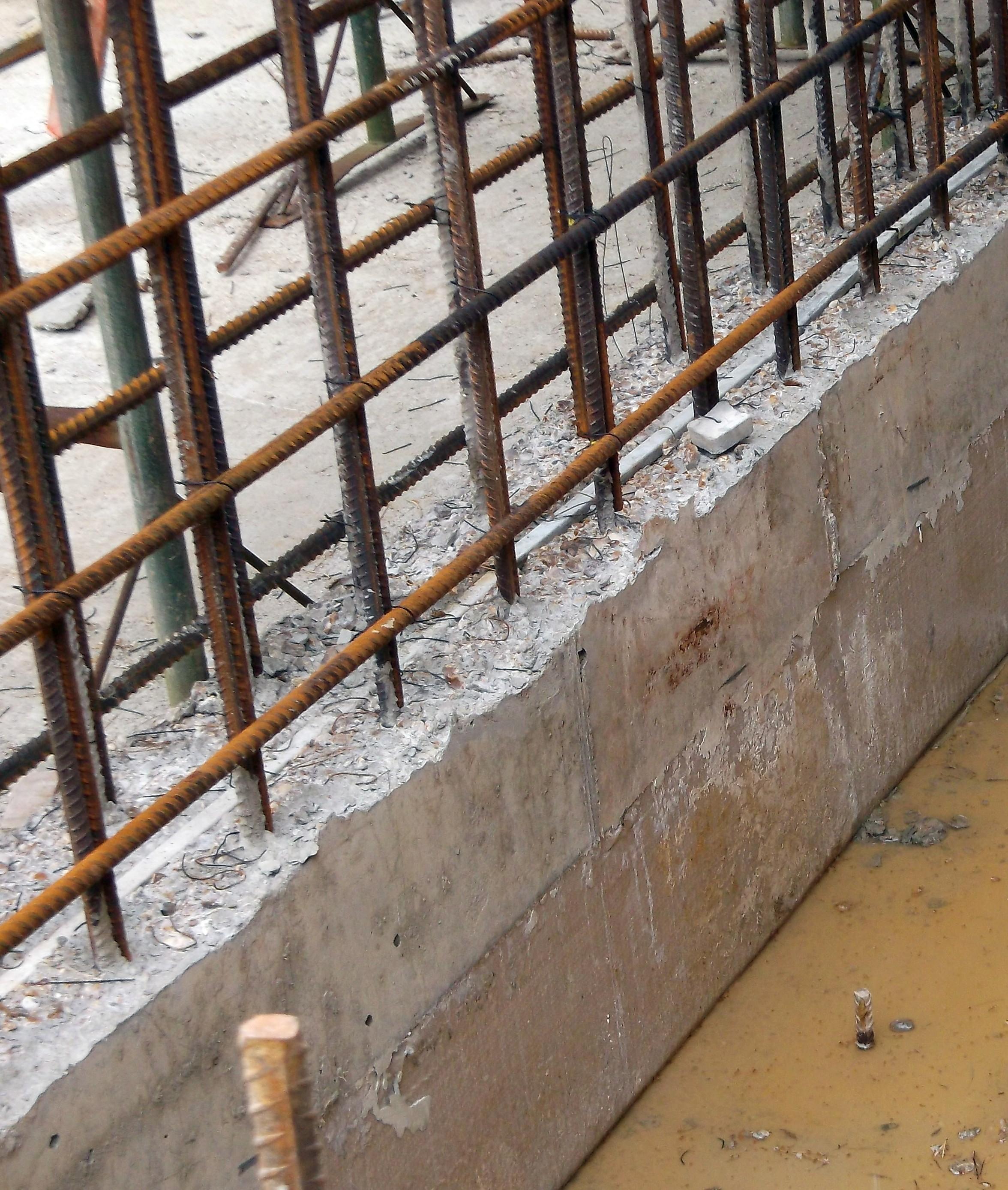 Image of: Concrete Basement Wall Reinforcement Basement