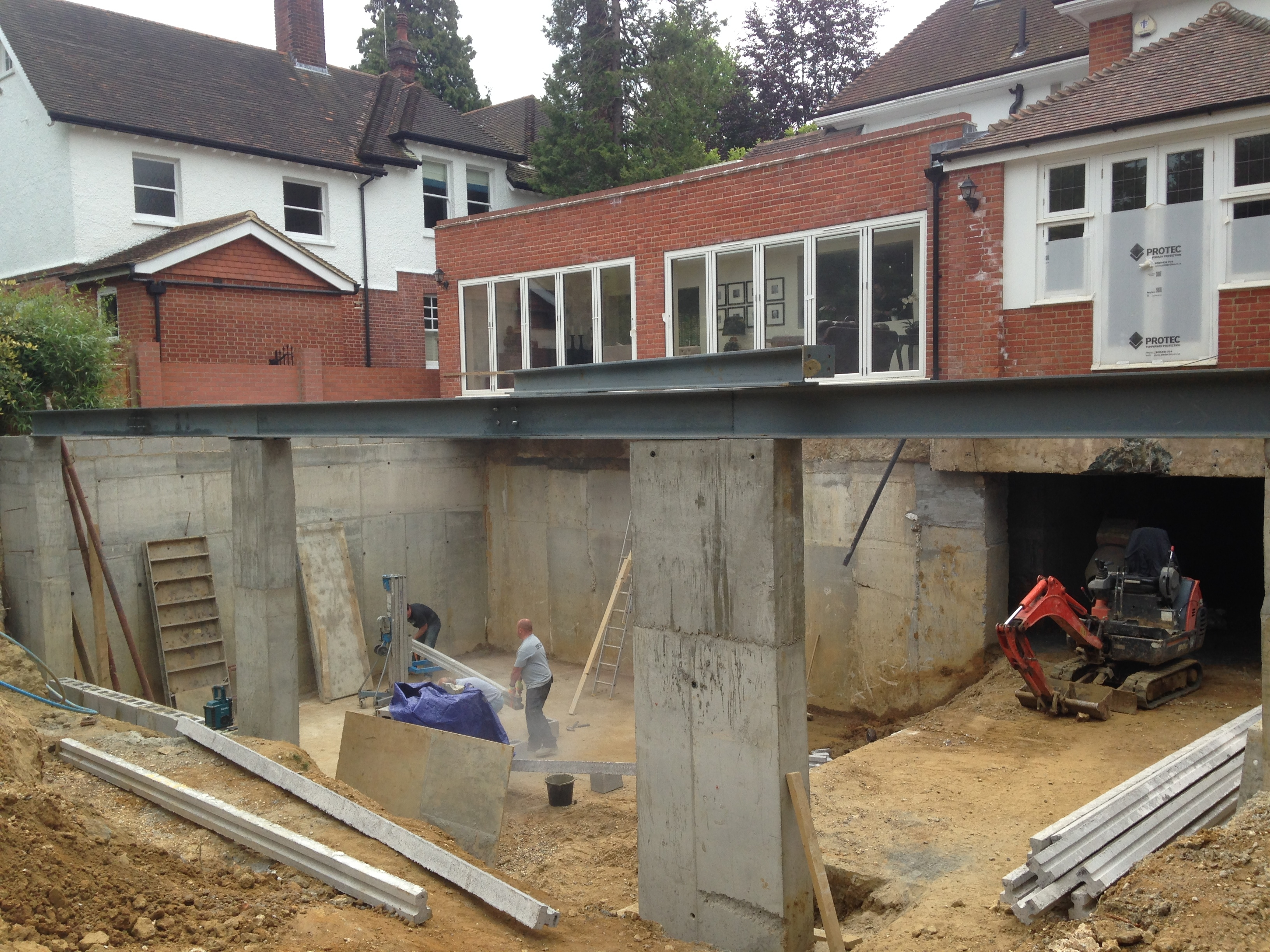 Constructing A Basement Under An Existing House