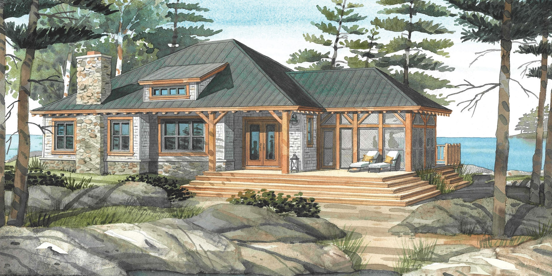Cottage Style House Plans With Walkout Basement