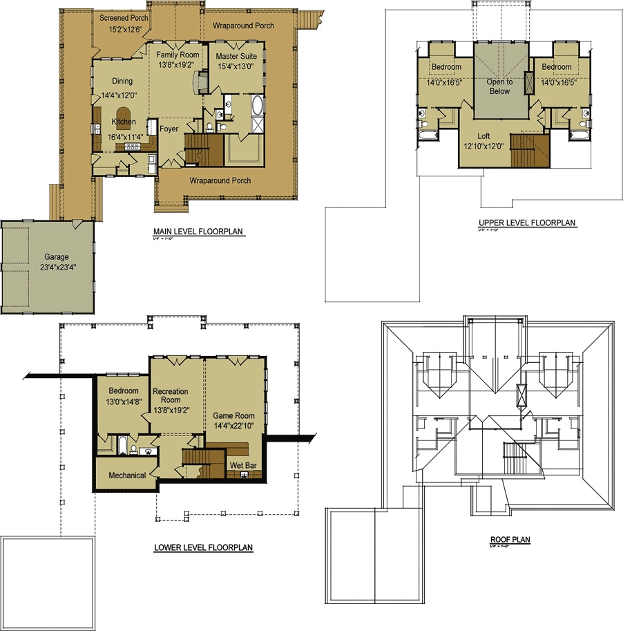 Country Ranch House Plans With Basement