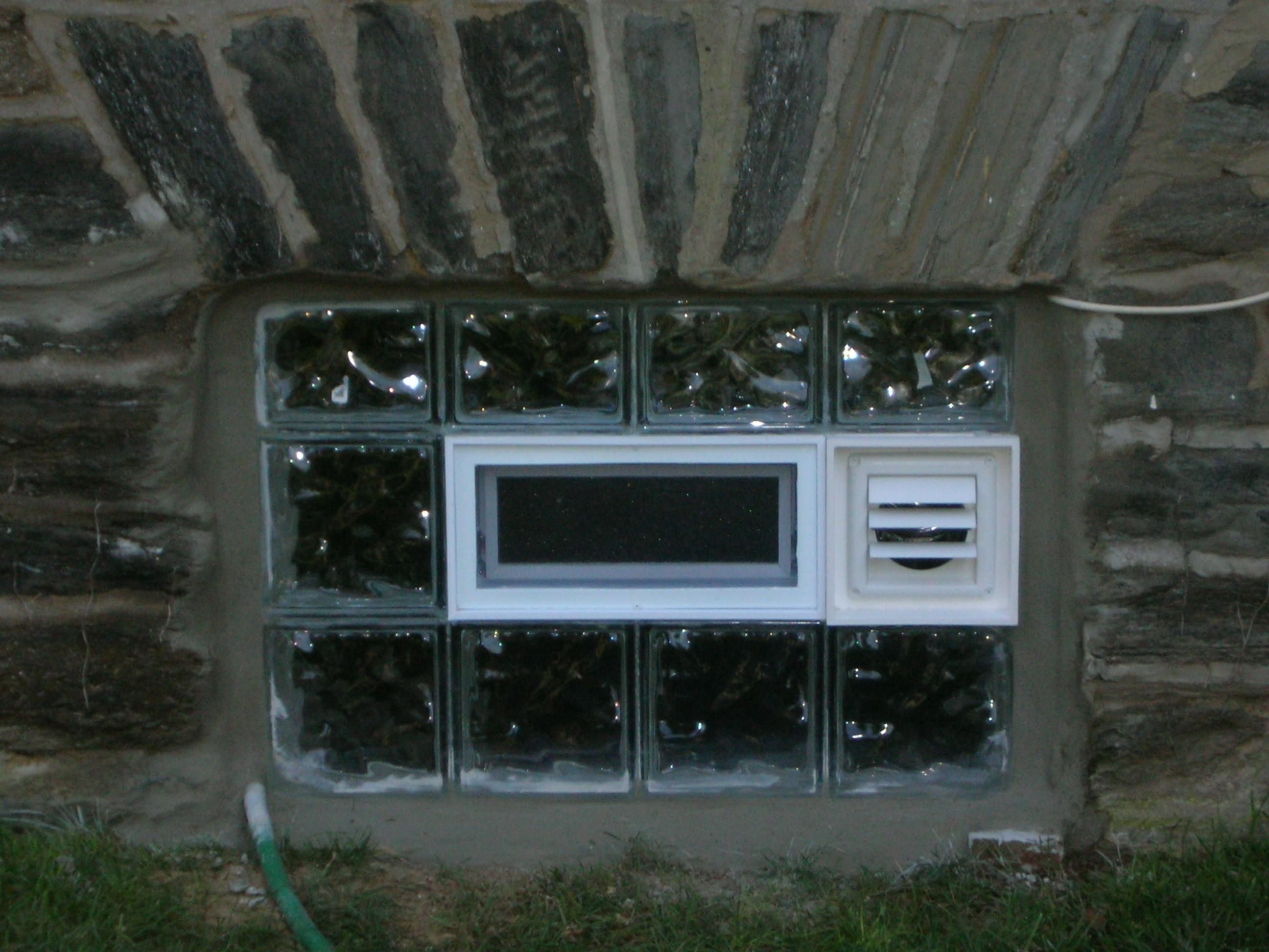 Custom Glass Block Basement Windows