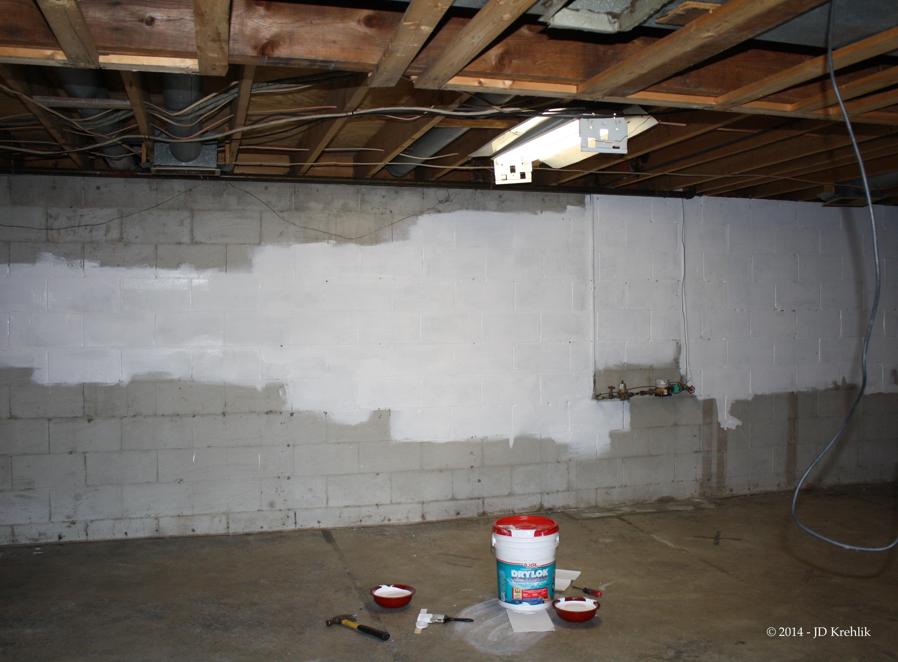 Drylock Interior Basement Walls