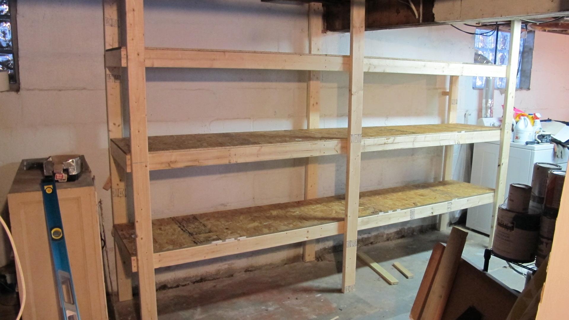 Easy Basement Storage Shelves Plans