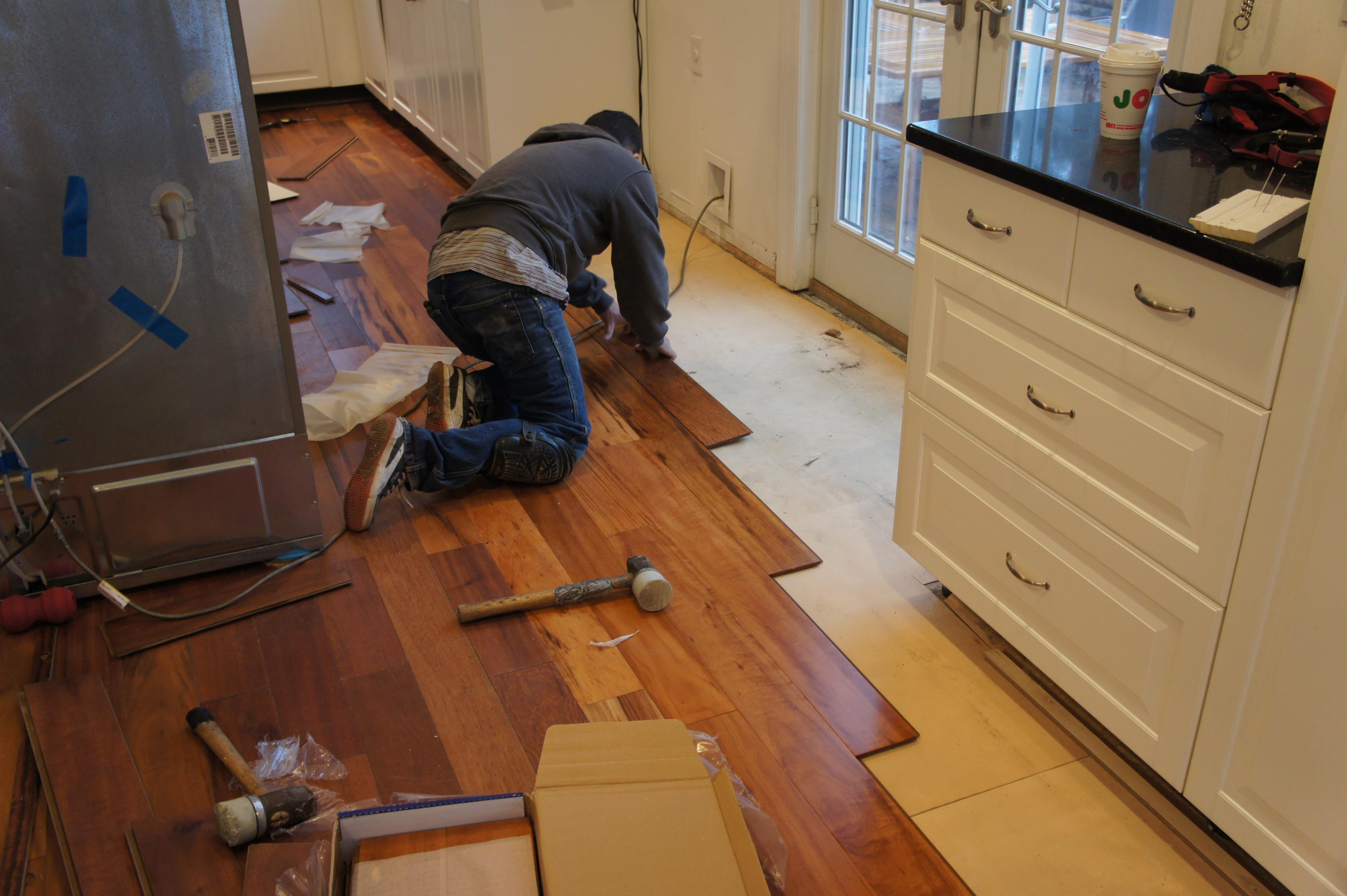 Engineered Hardwood Floor Basement