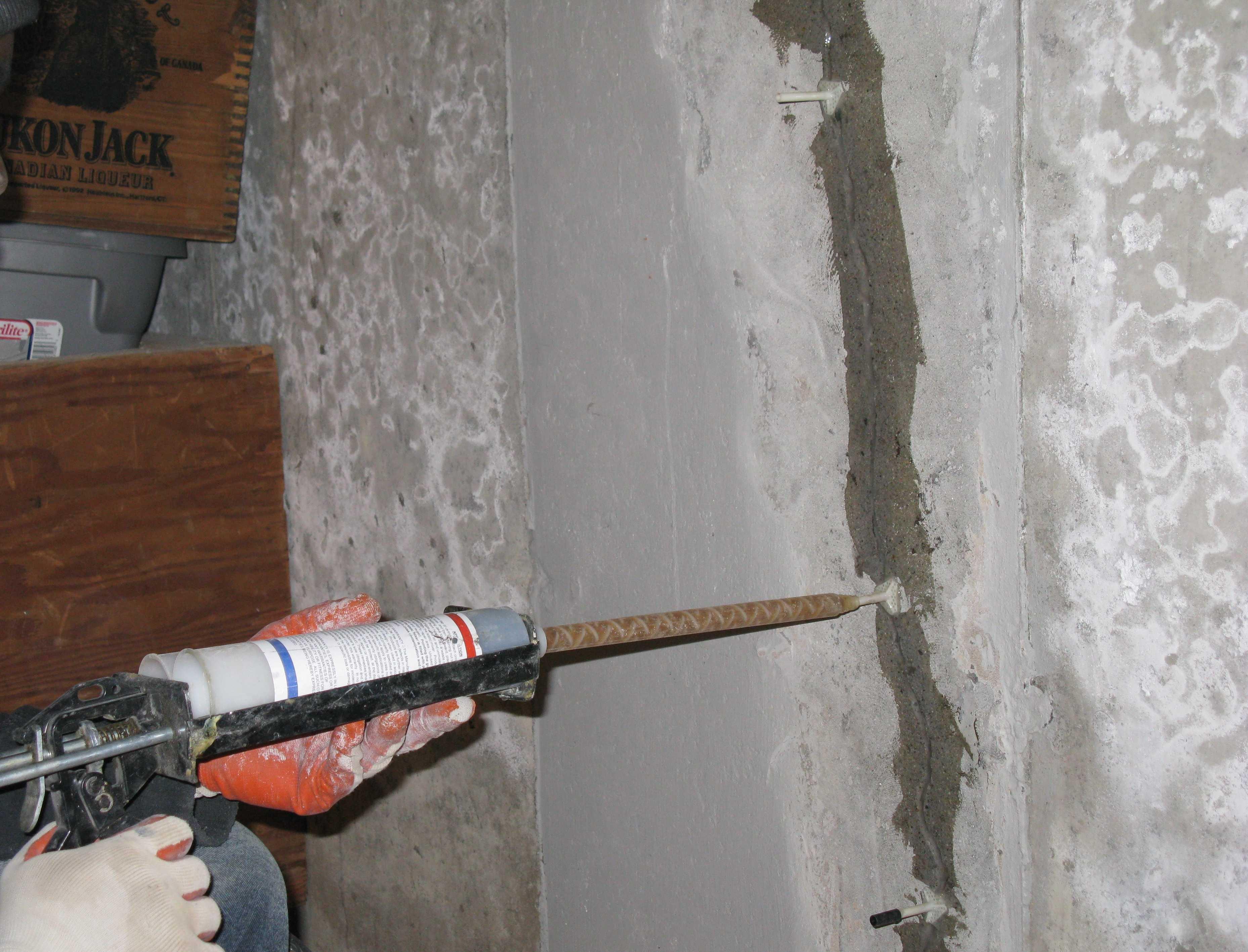 Epoxy Injection Basement Floor