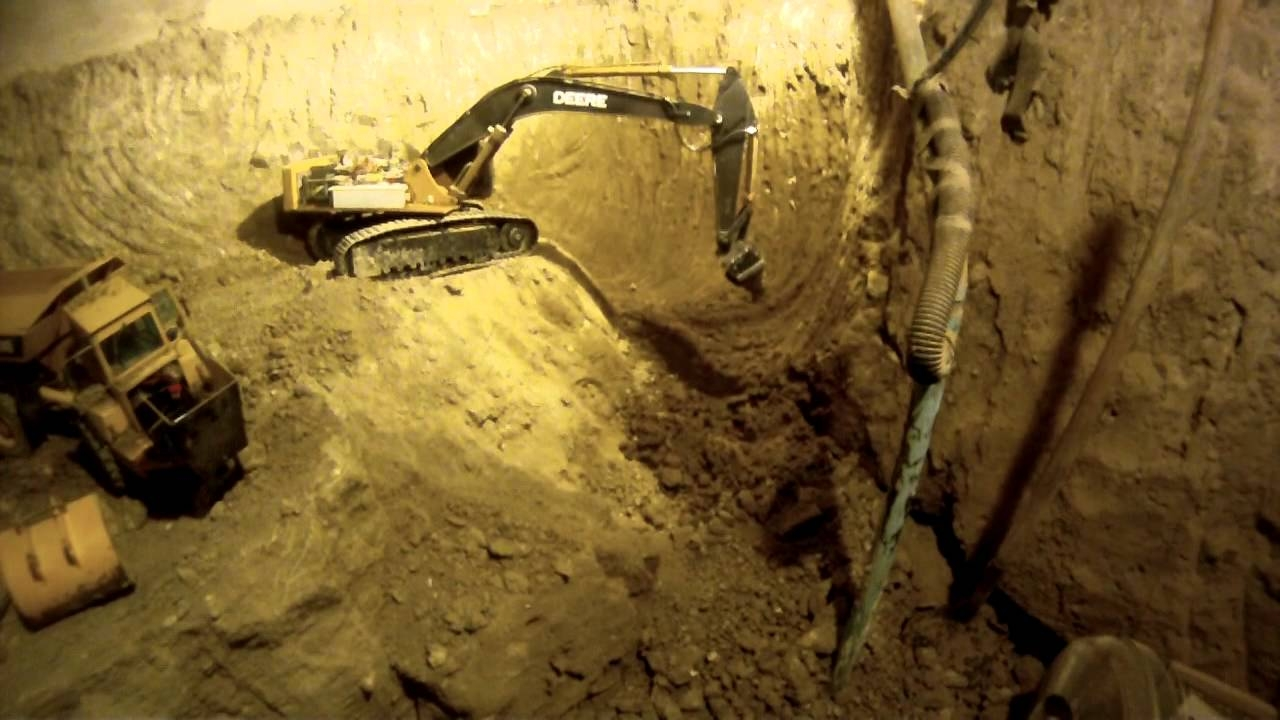 Excavating Basement With Rc Trucks