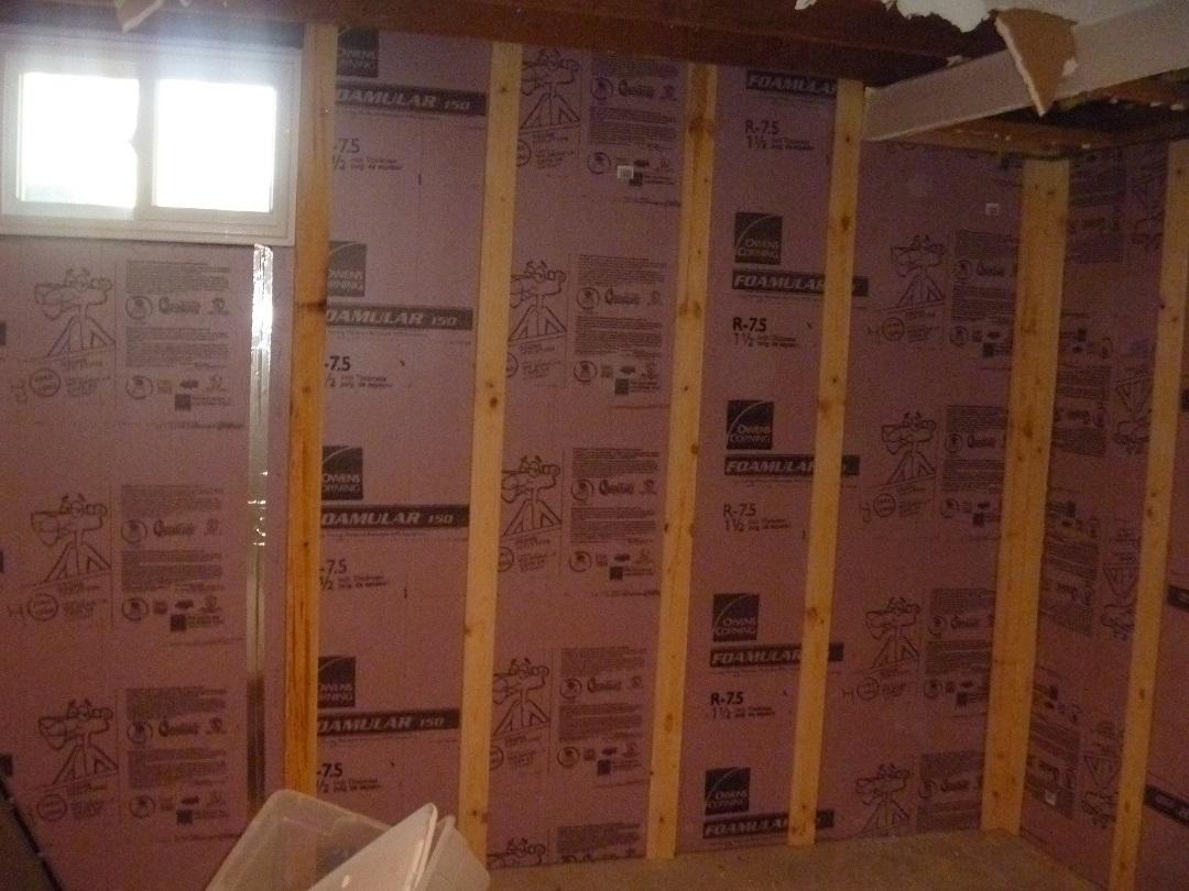 Finish Basement Wall Moisture Barrier