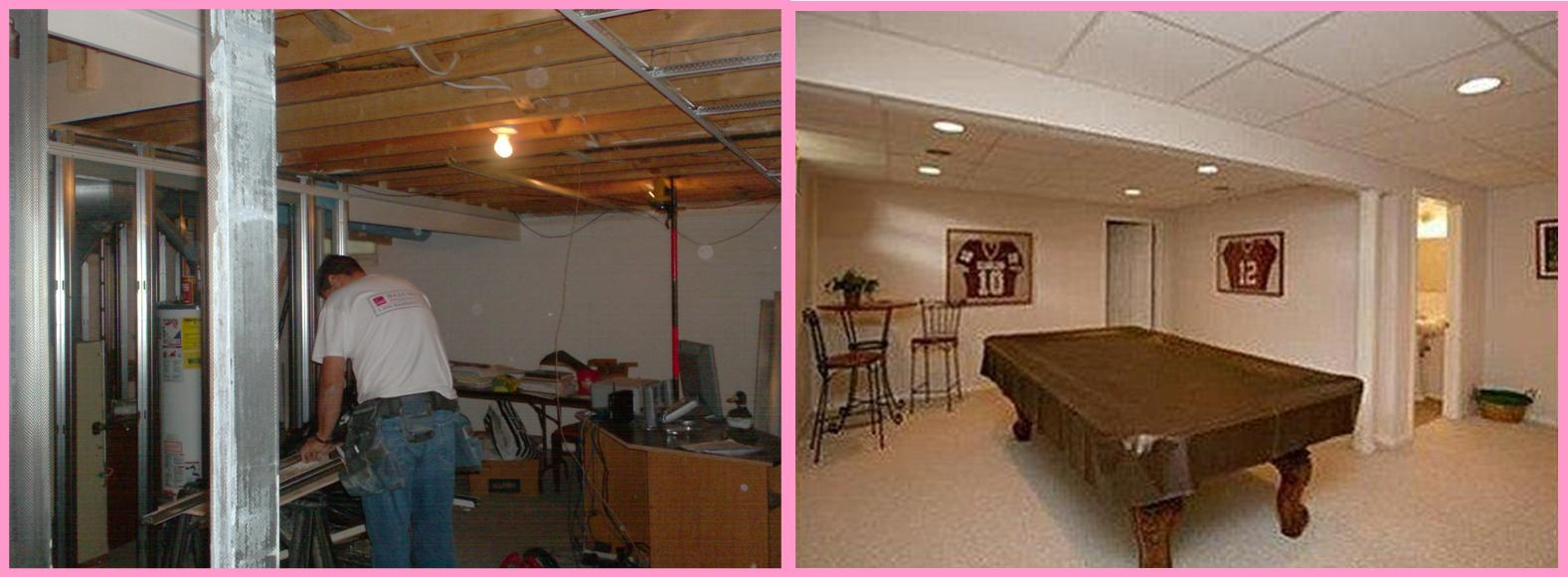 Finished Basements Before And After Basement