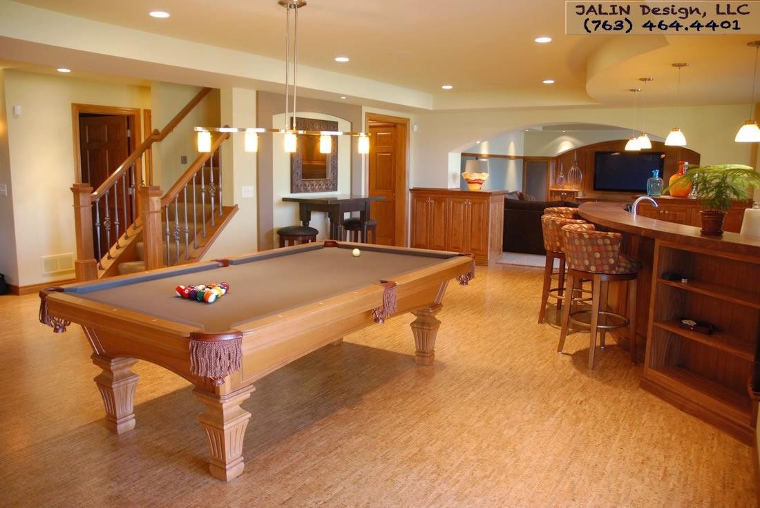 Floating Cork Flooring Basement