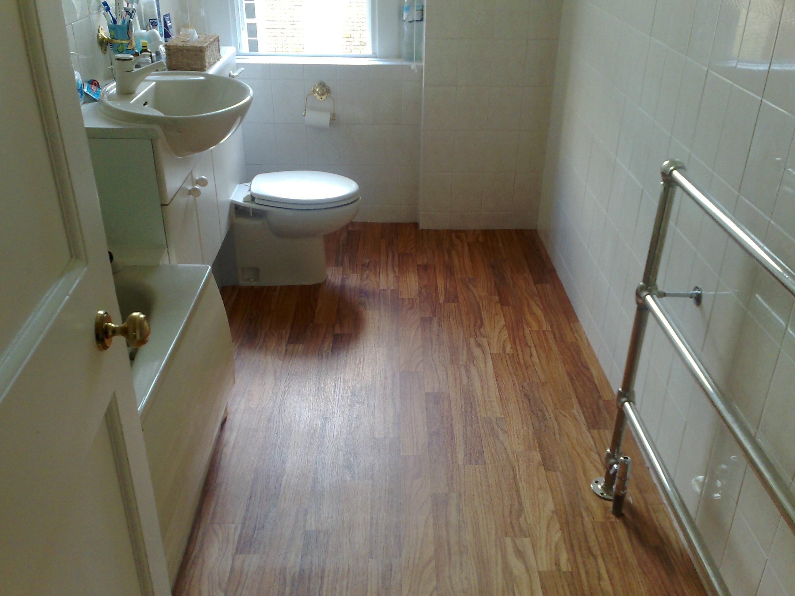 Floating Floor Basement Bathroom