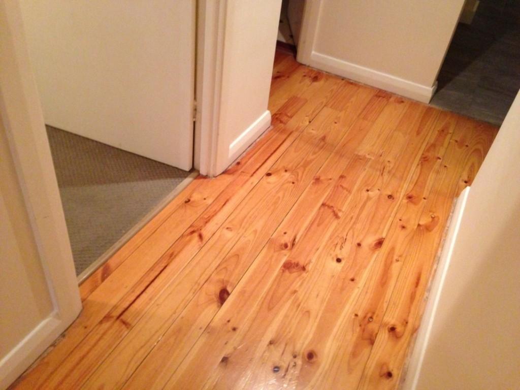 Floating Hardwood Floor Basement
