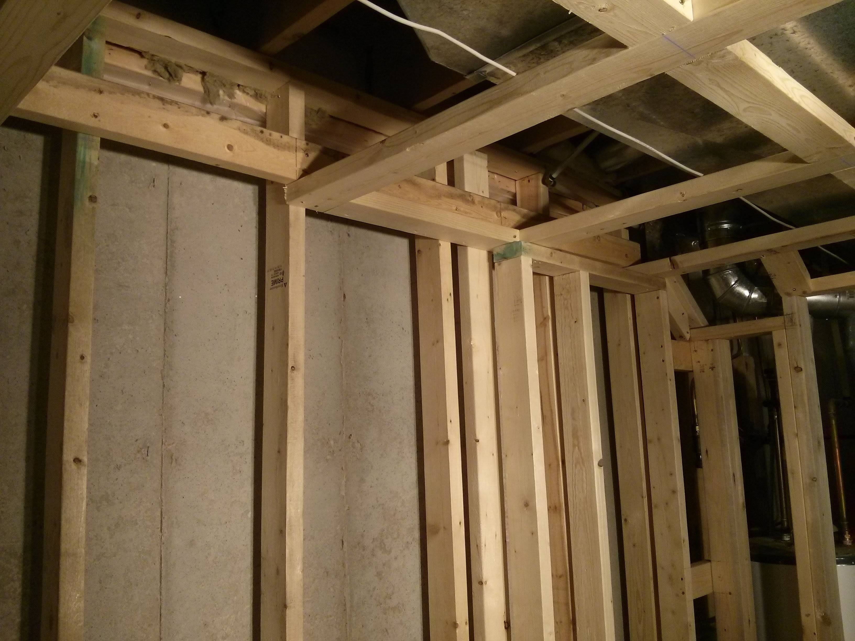 Frame Basement Walls Vapor Barrier