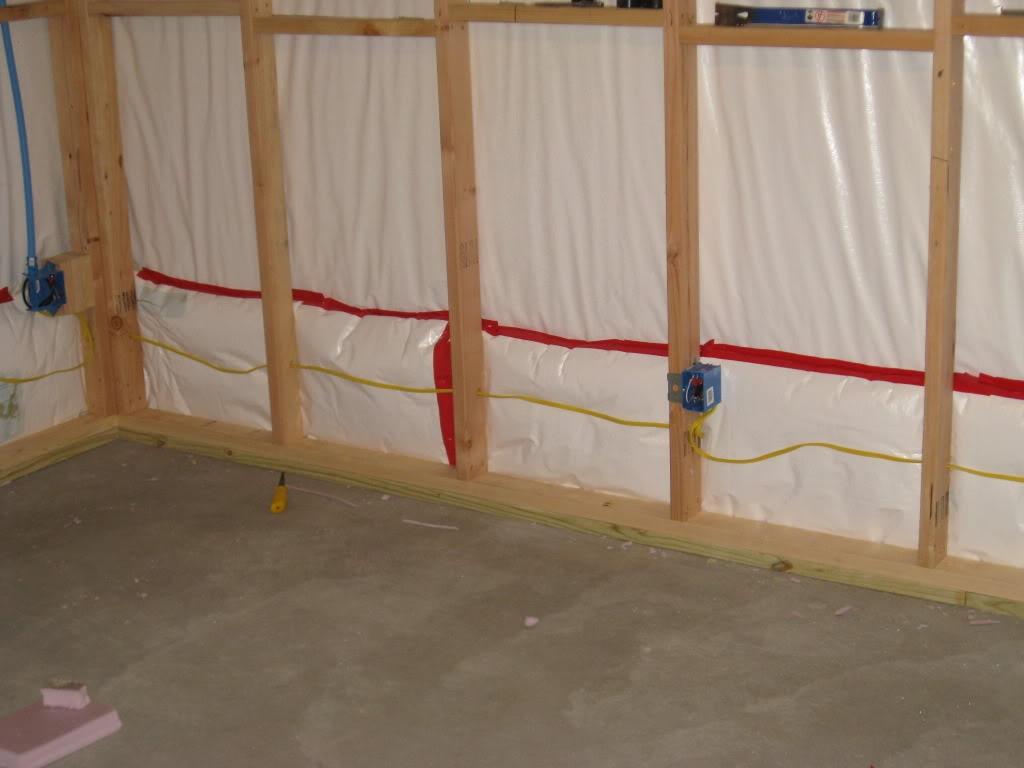 Framing Over Basement Blanket Insulation