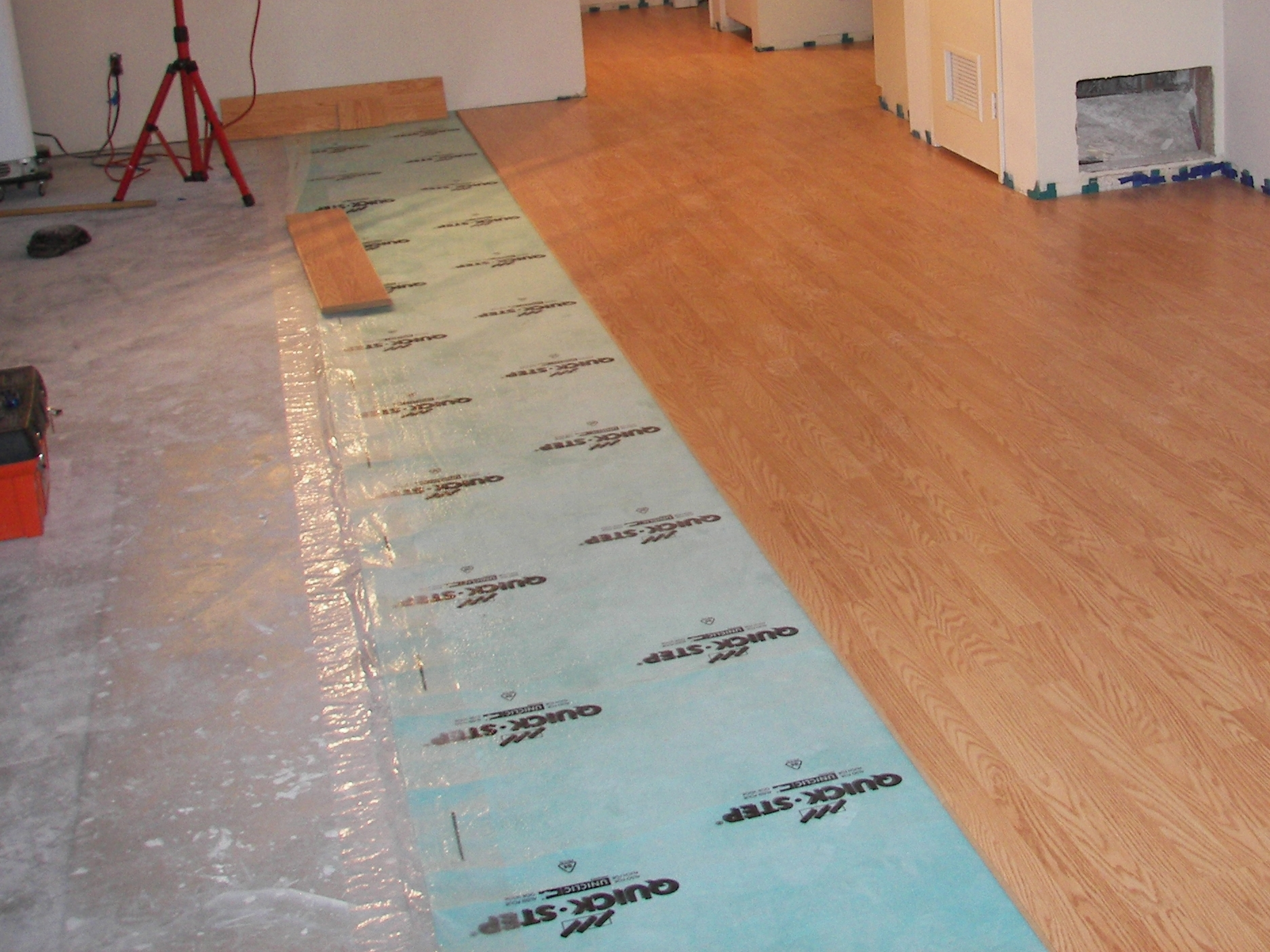 Hardwood Floor Over Concrete Basement
