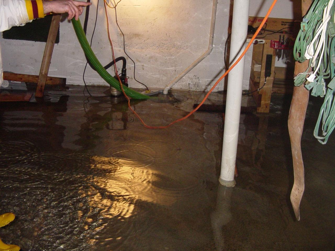 High Water Table Under Basement Floor