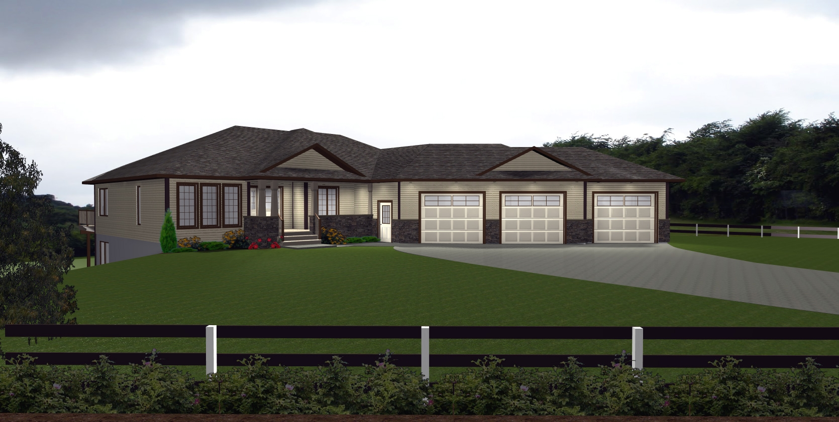 House Plans With Walkout Basement And Detached Garage