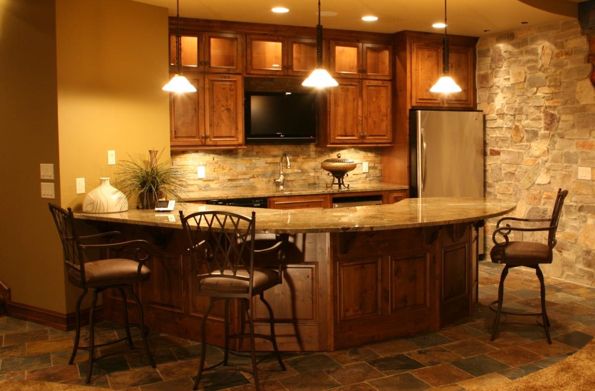 Ideas For Home Basement Bars1200 X 788