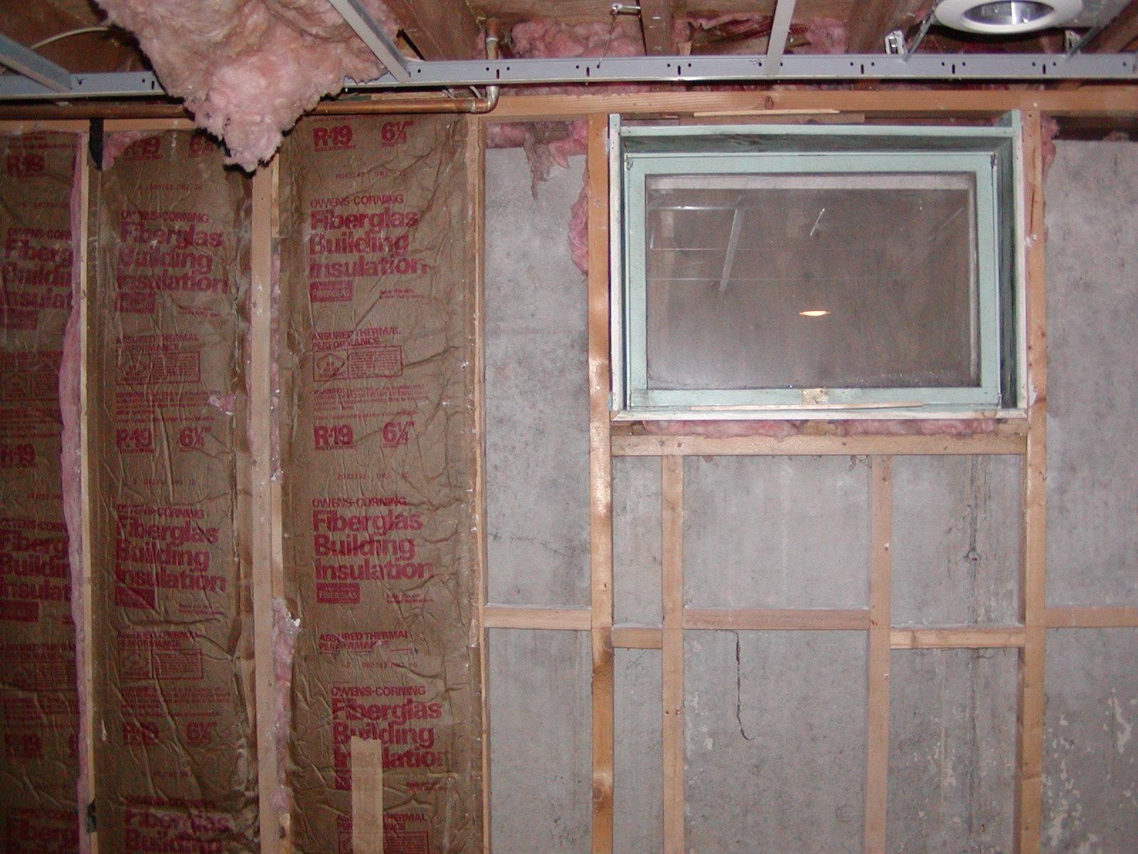 Insulate Basement Window Frame