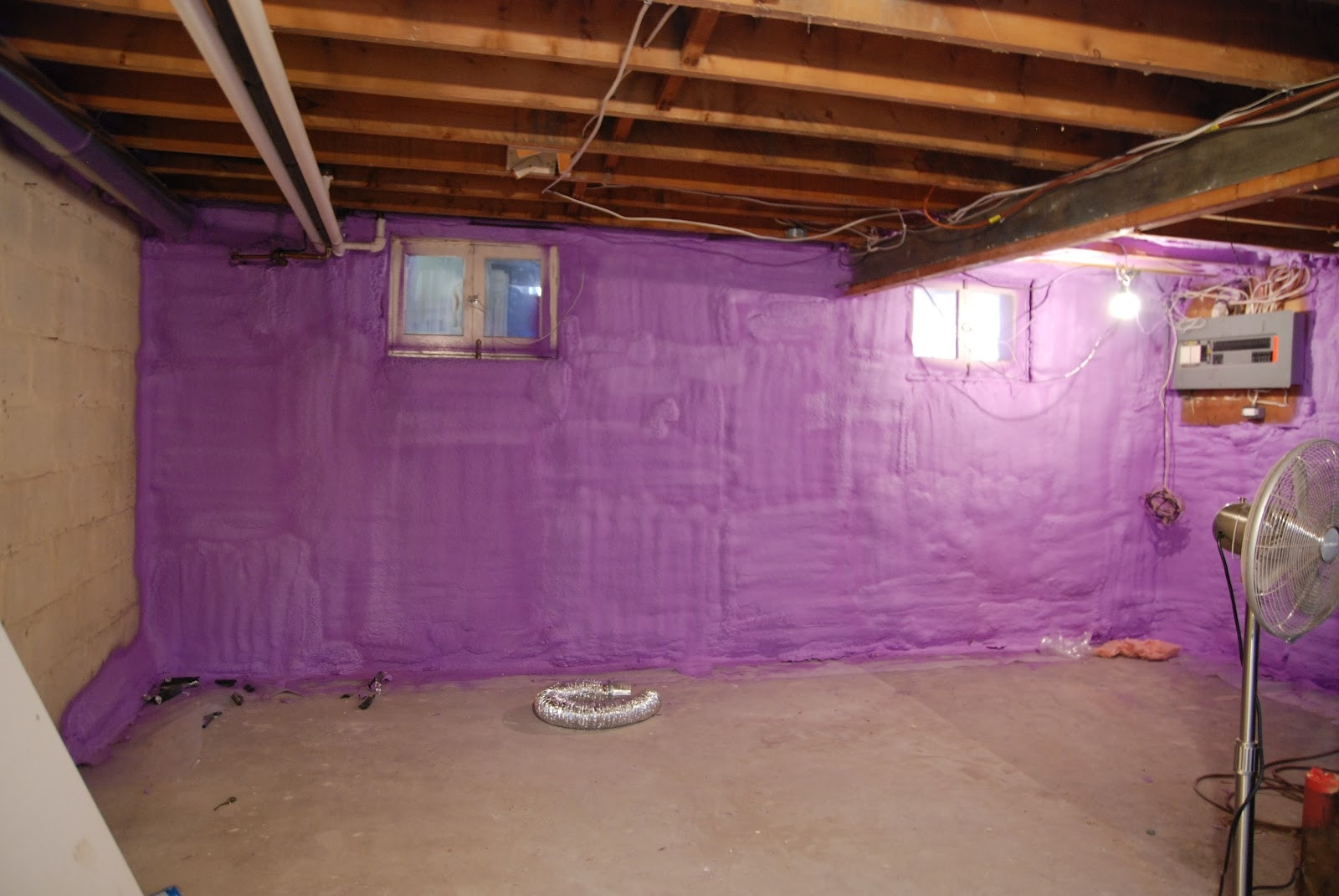 Insulating A Basement Wall With Spray Foam