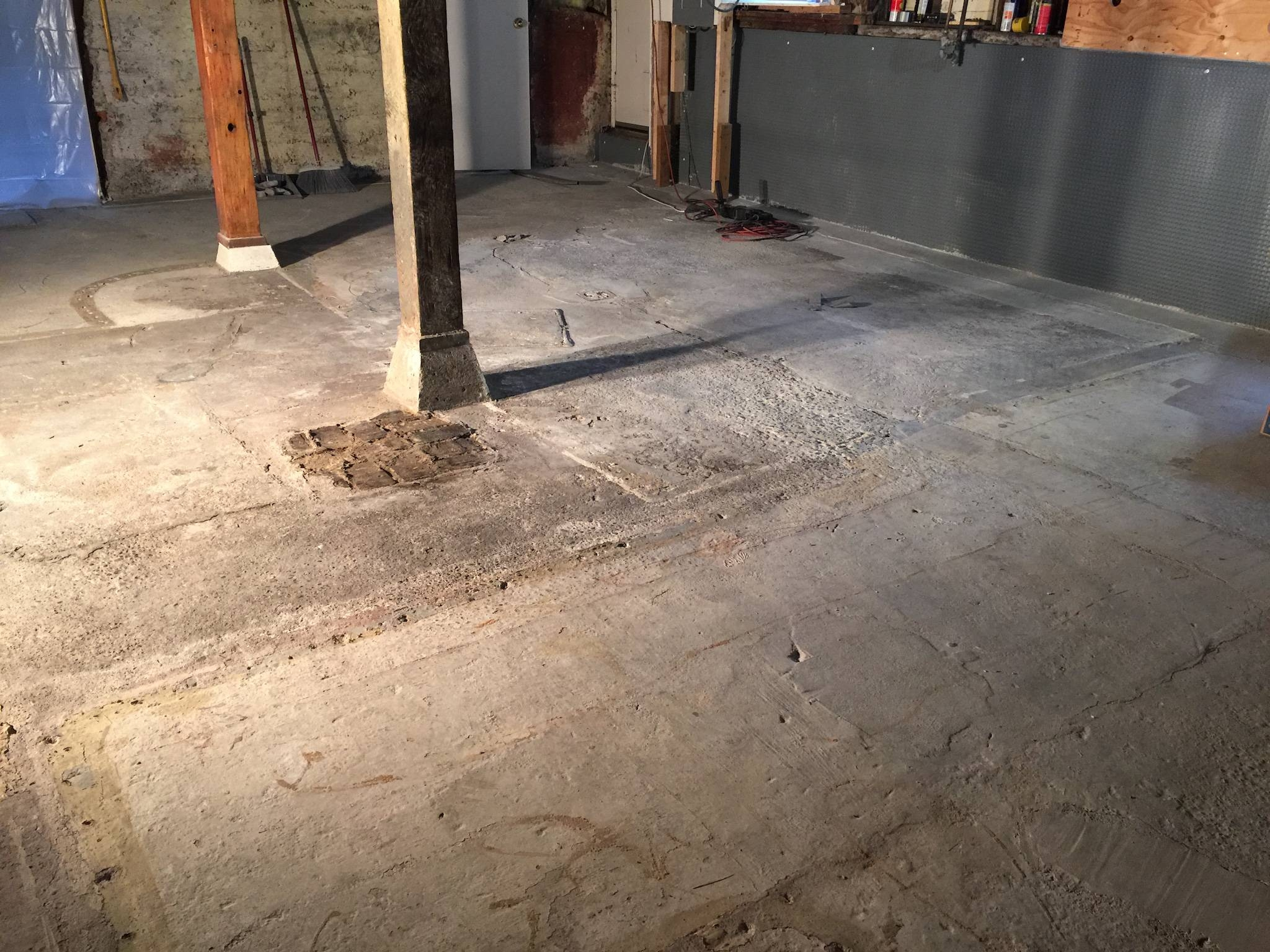 Leveling A Basement Floor With A Drain