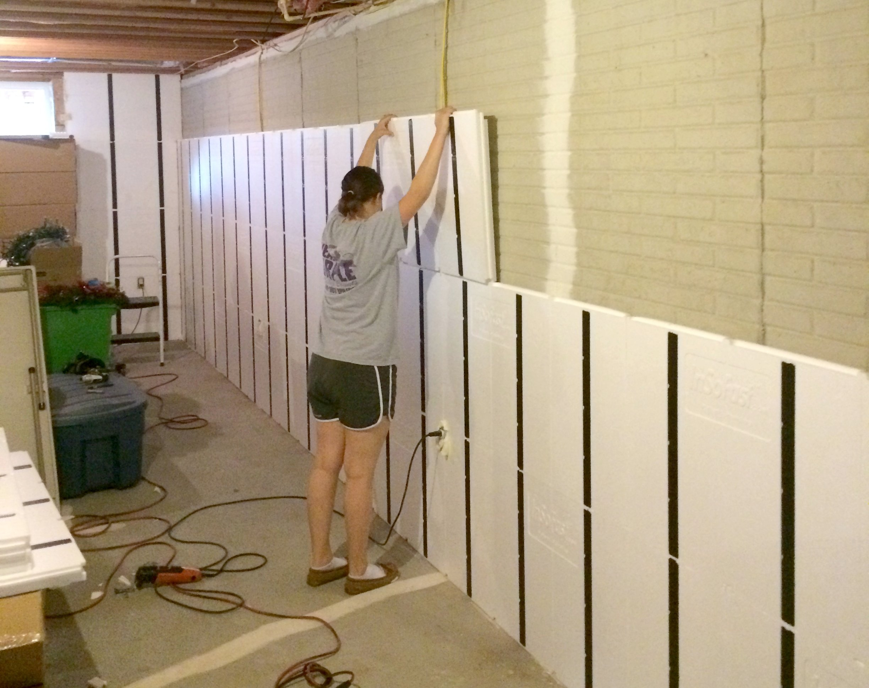 No Drywall Basement Walls