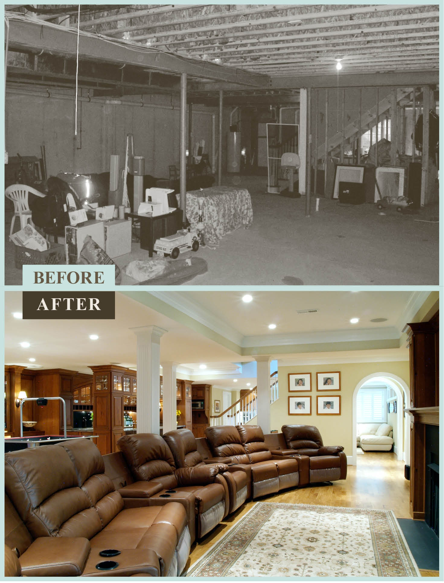 Old Basement Remodel Before And After