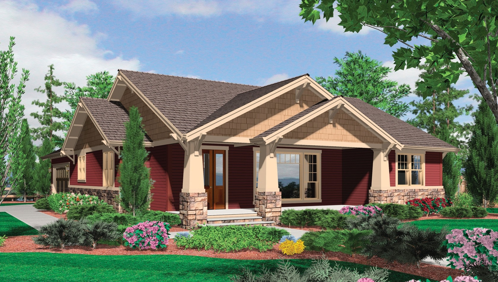 One Story Brick House Plans With Basement