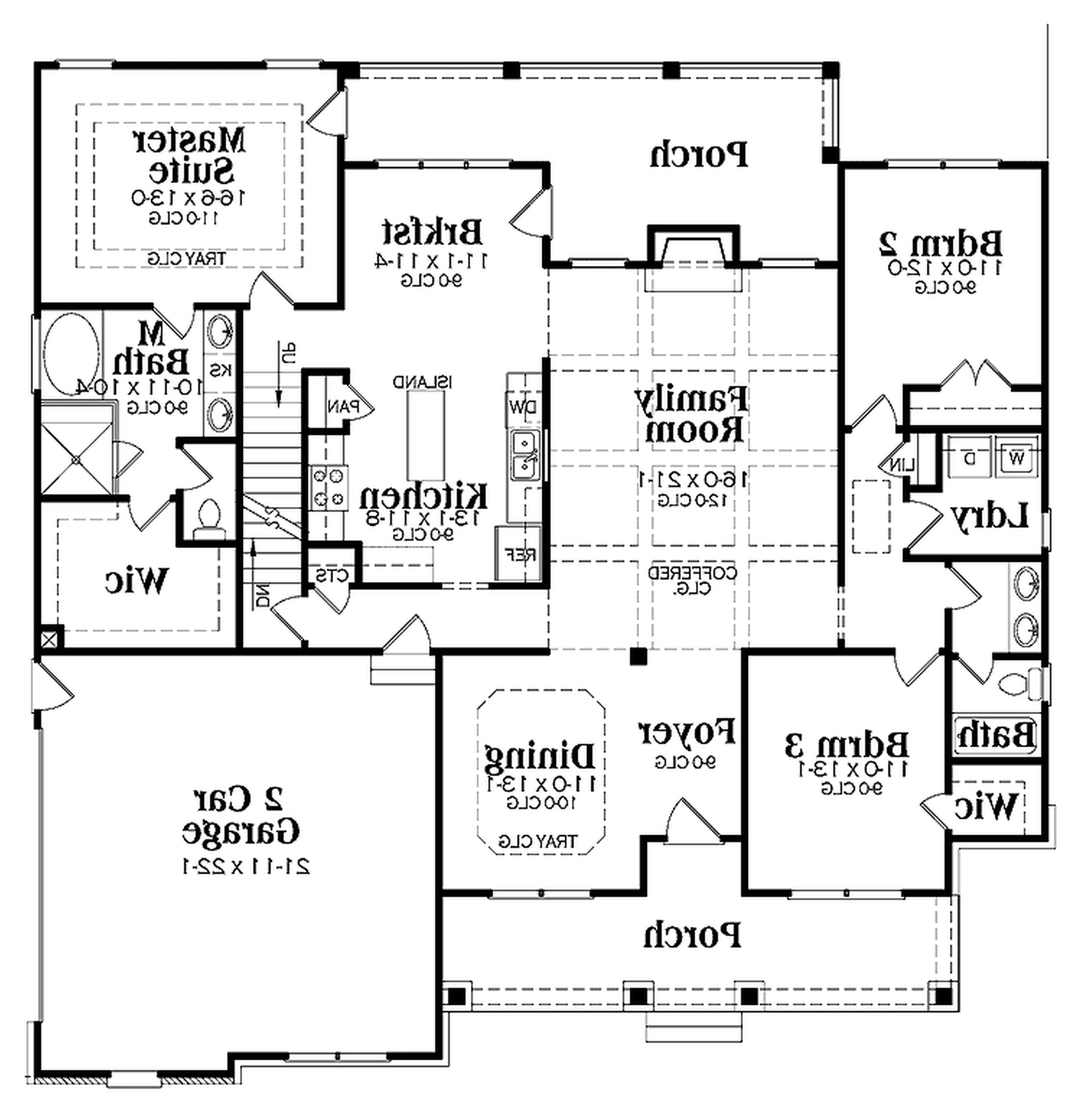 One Story House Plans With Basement And Porch