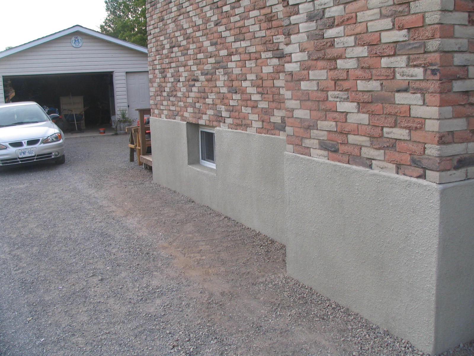 Parging Old Basement Walls