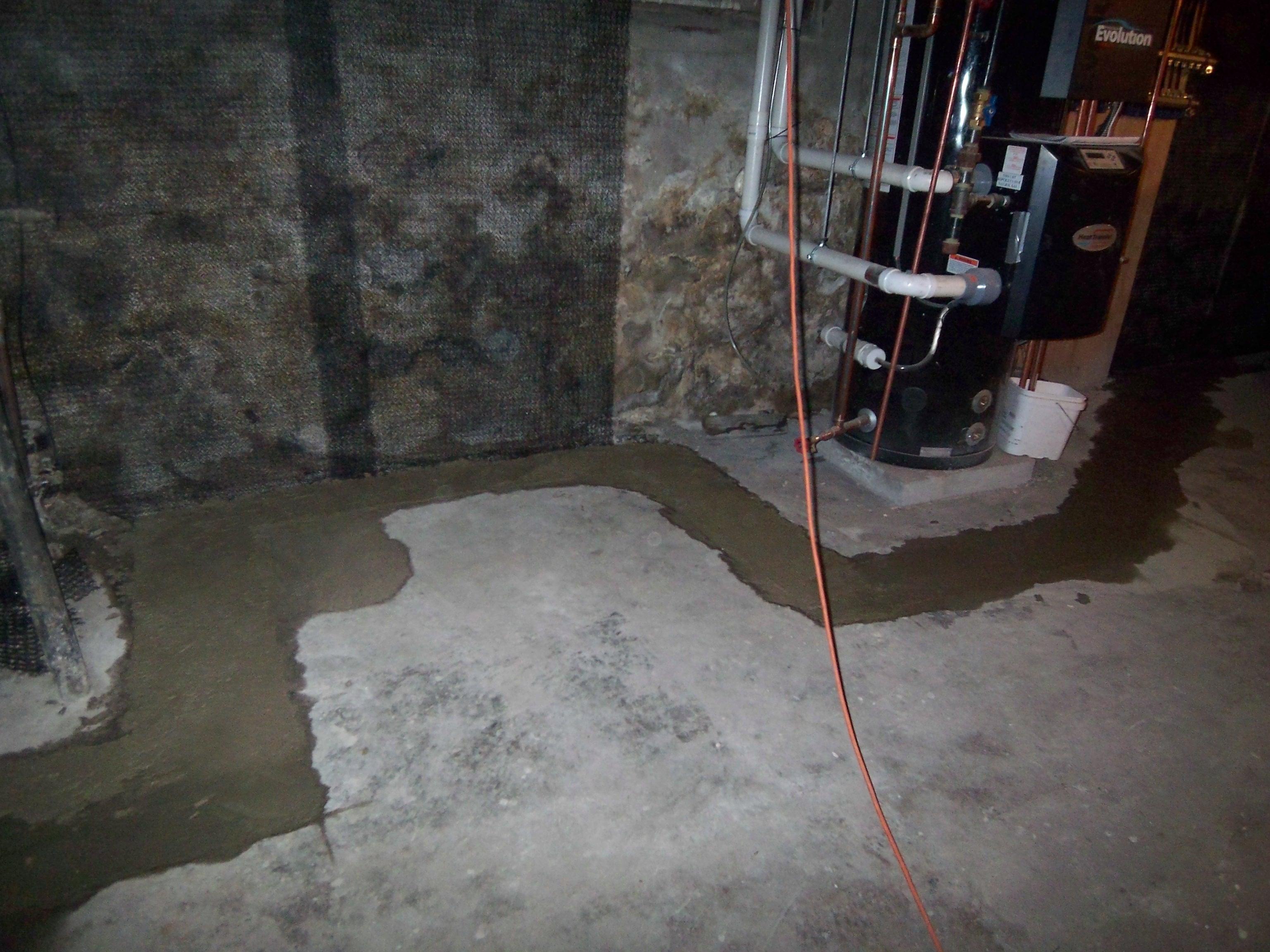 Perimeter Drain Inside Basement
