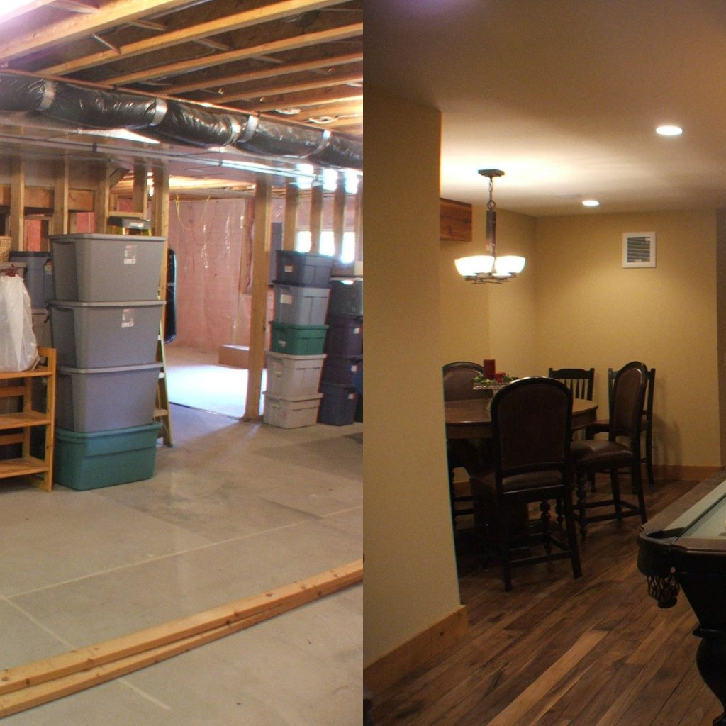 Pictures Of Basement Remodeling Before And After • BASEMENT
